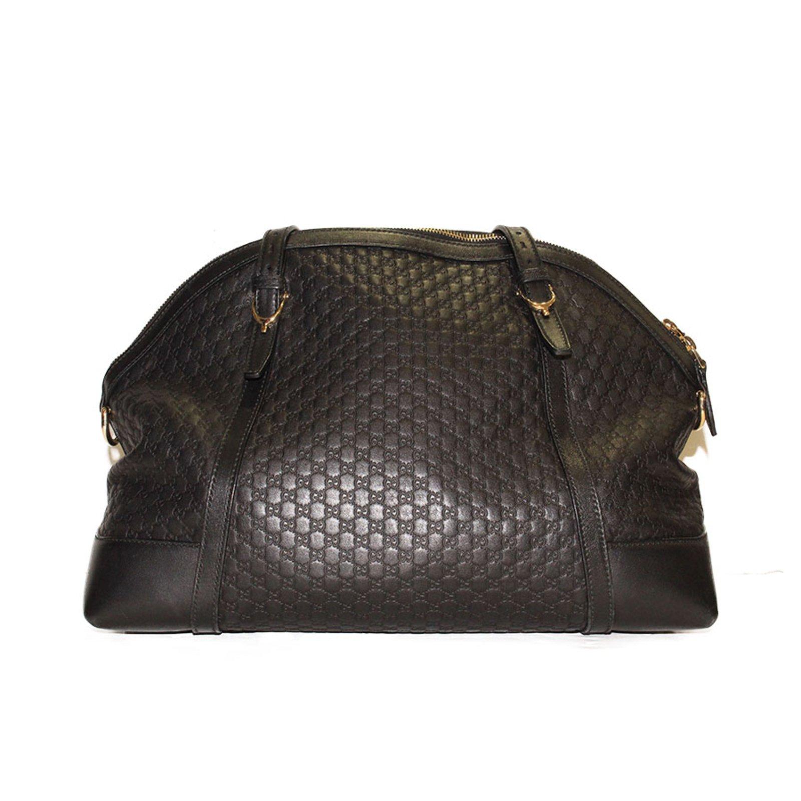 Cabas Gucci Sac gucci en cuir sigle gg noir avec bandouliere cuir d agneau  Noir ref.33098 - Joli Closet 5288bbc3b82
