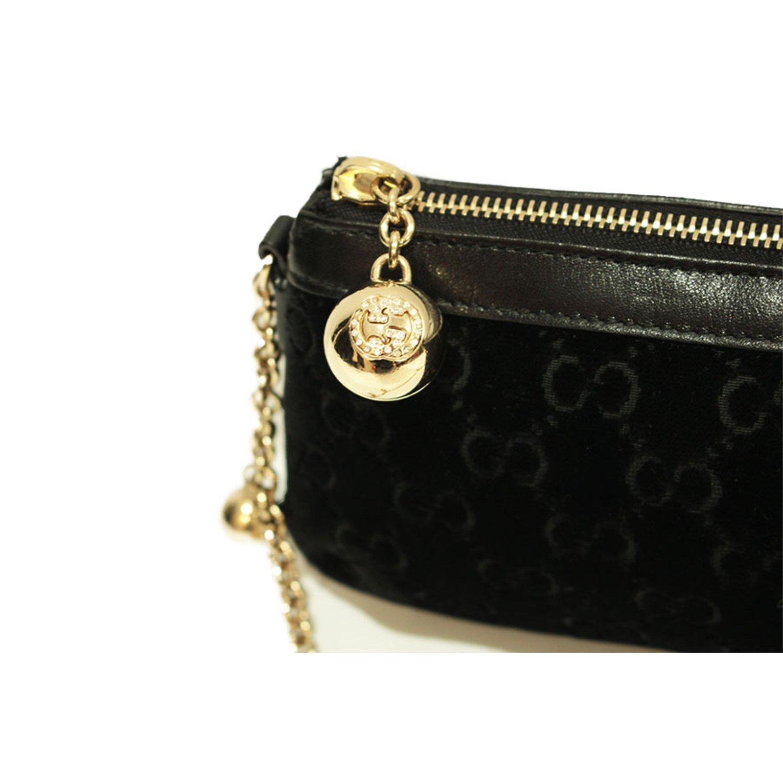b56d69303165 Gucci Black velvet Clutch bag Clutch bags Velvet,Deerskin Black ref.33099 -  Joli Closet
