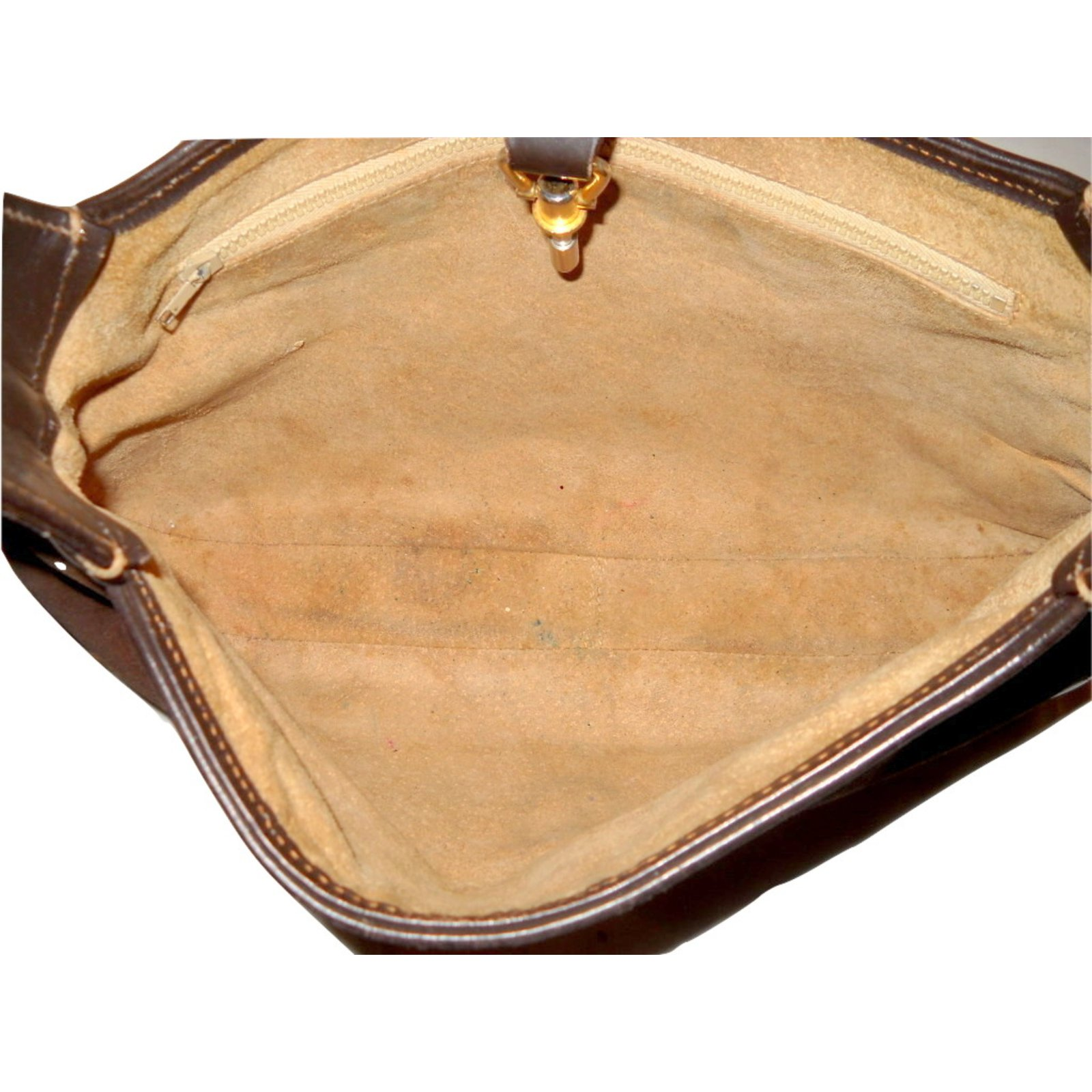 583b8ff158081f Gucci vintage iconic Jackie small Handbags Leather,Deerskin Brown ref.33200  - Joli Closet