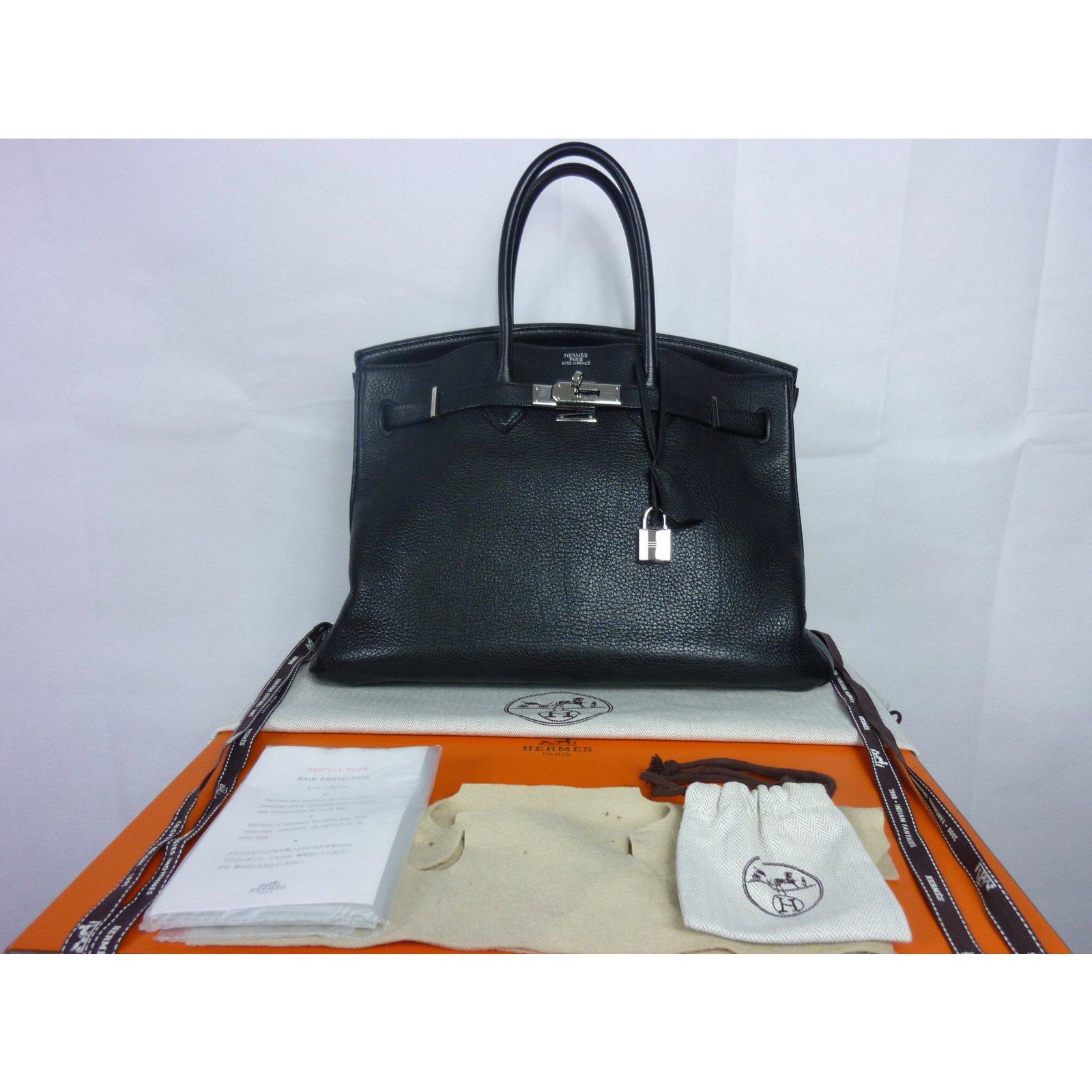 ca6b5a85bc Sacs à main Hermès Sac à main Hermès Birkin 35 en cuir Togo noir en  excellent état! Cuir Noir ref.33970 - Joli Closet