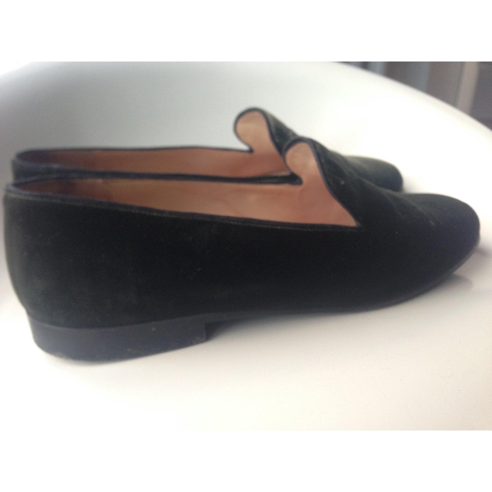 f95ad2120699 Chanel Flat slipper Flats Velvet Khaki ref.34609 - Joli Closet
