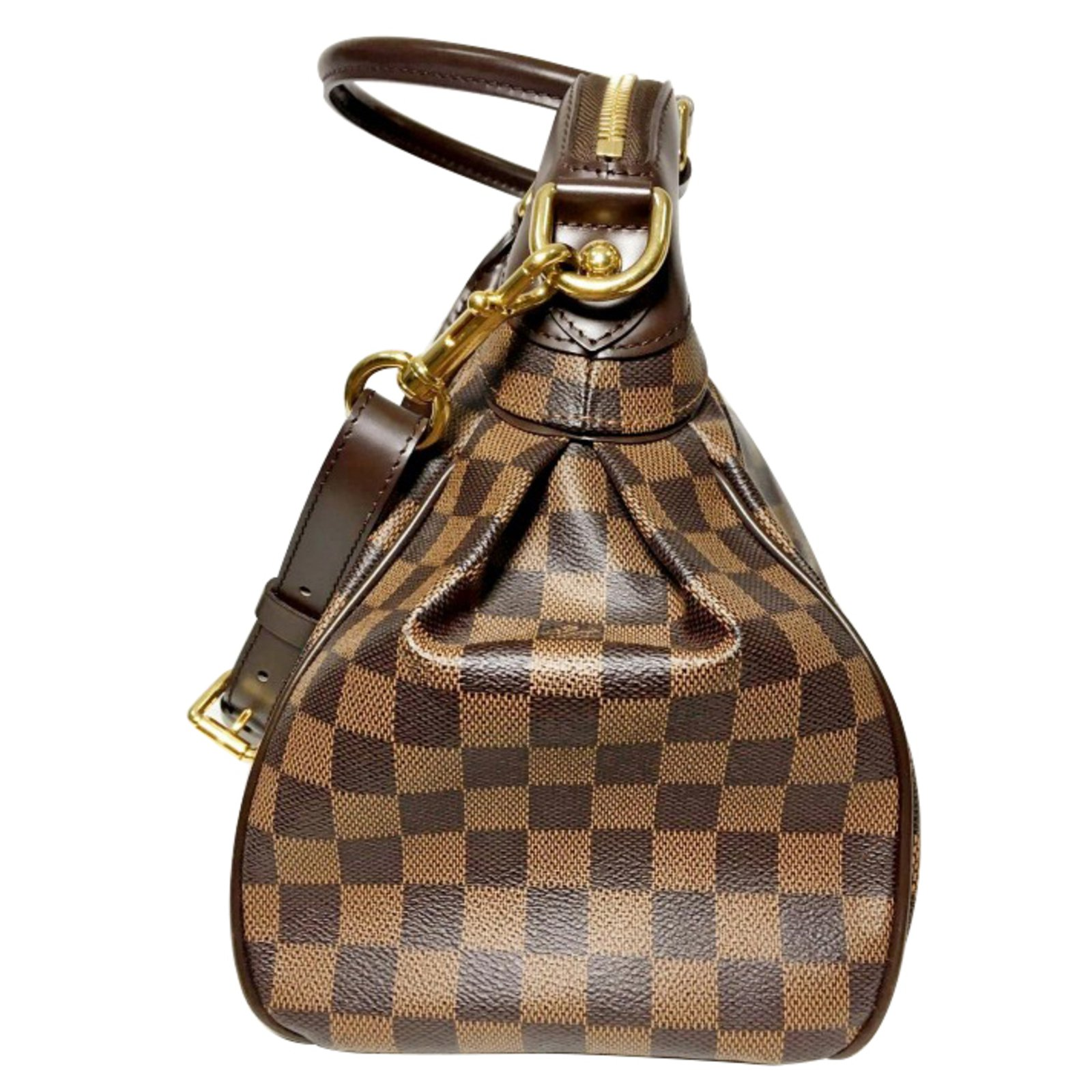 7f5f992baff5 Louis Vuitton Damier Ebene Trevi GM Handbags Leather Brown ref.35131 - Joli  Closet