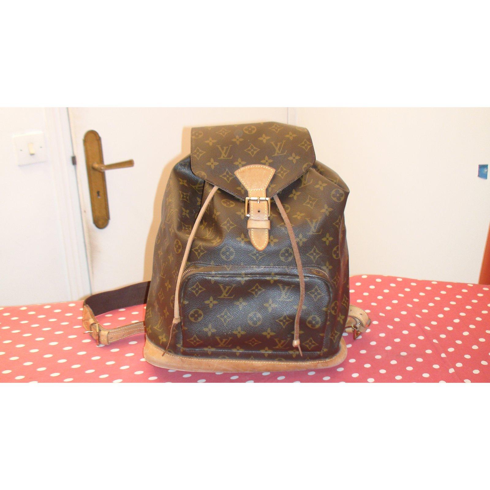 ce05e4aa129e Louis Vuitton Montsouris GM Backpacks Leather Brown ref.35213 - Joli Closet