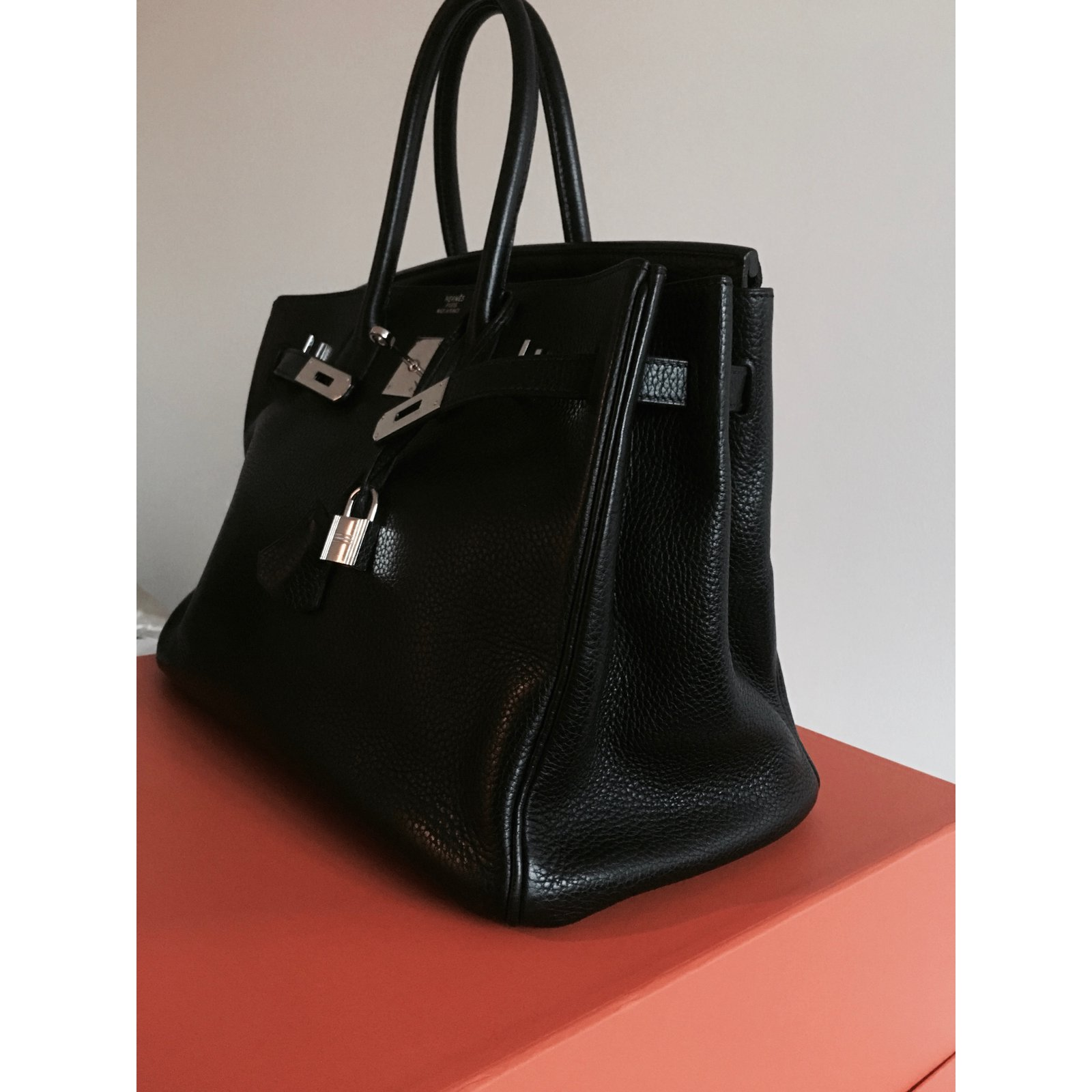 31abf55334 ... sweden sacs à main hermès sac hermes birkin cuir togo noir 35 cm cuir  noir ref ...