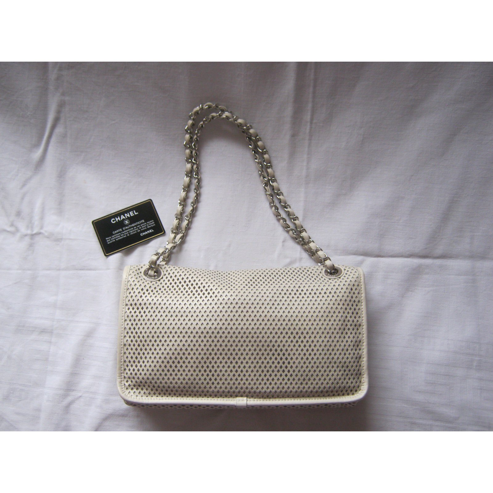 a48167e553b Chanel French riviera Flap Bag Handbags Leather Cream ref.35431 - Joli  Closet