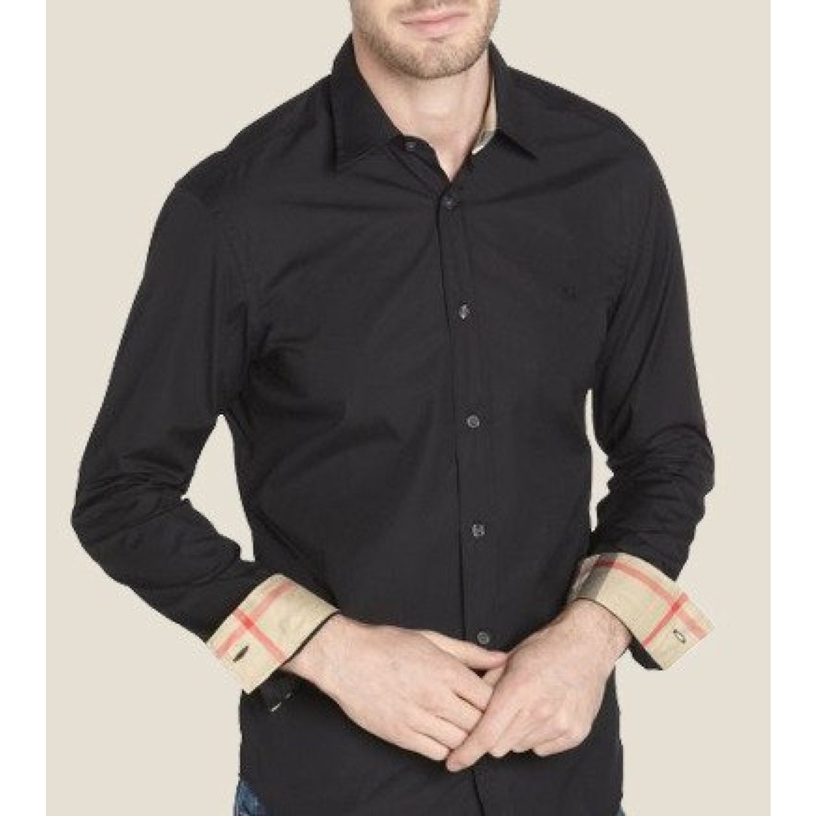 black and grey burberry shirt