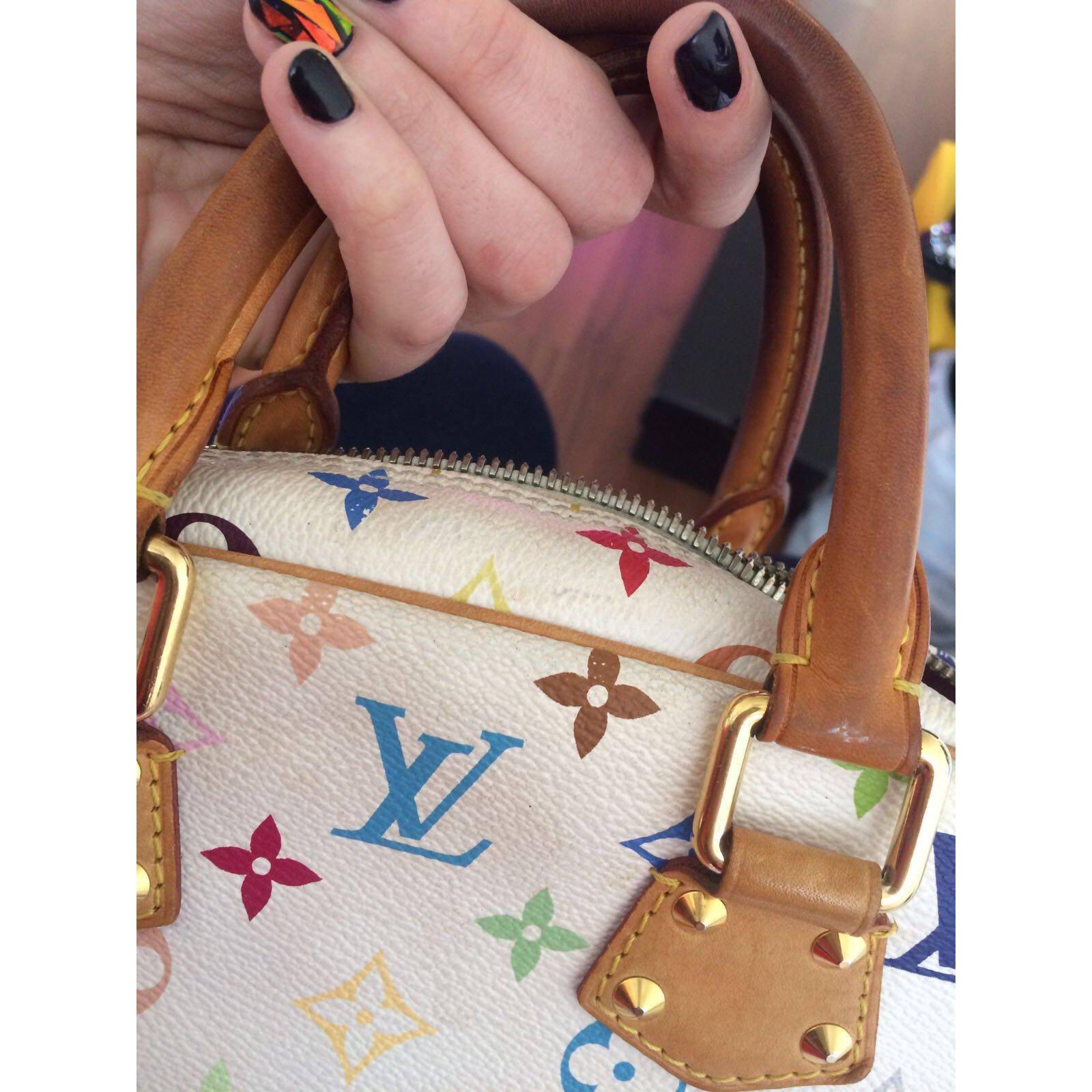 04caa4a882f38 Facebook · Pin This. Sacs à main Louis Vuitton Monogram Multicolore  Trouville Cuir Blanc ...