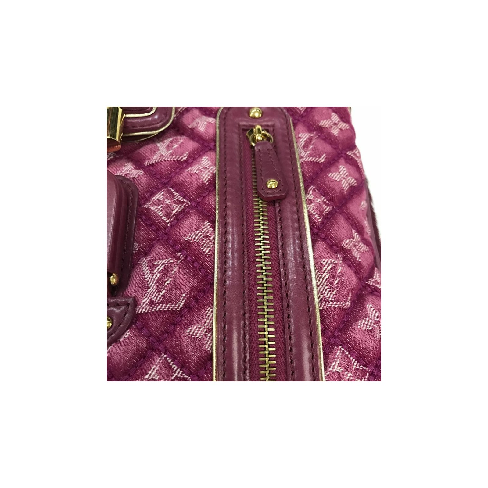e6d7bcf668a9 Louis Vuitton Monogram Quilted Denim Linda Fuchsia Handbags Denim Pink  ref.36053 - Joli Closet