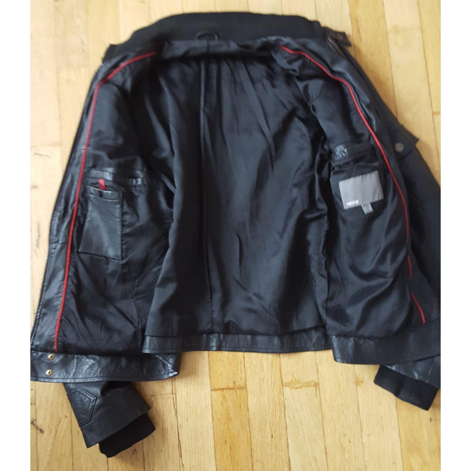 vestes blousons autre marque blouson en cuir mexx cuir. Black Bedroom Furniture Sets. Home Design Ideas