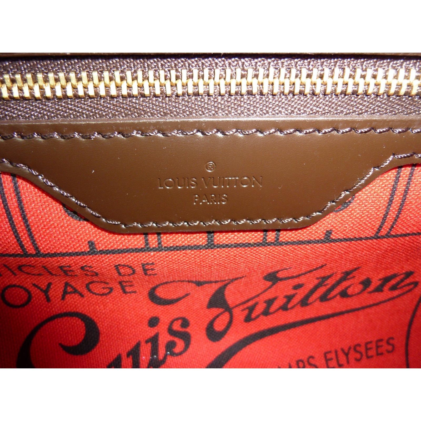 f0dfe08b922 Sacs à main Louis Vuitton Cabas Louis Vuitton Neverfull PM à damier ébène  état neuf ! Cuir