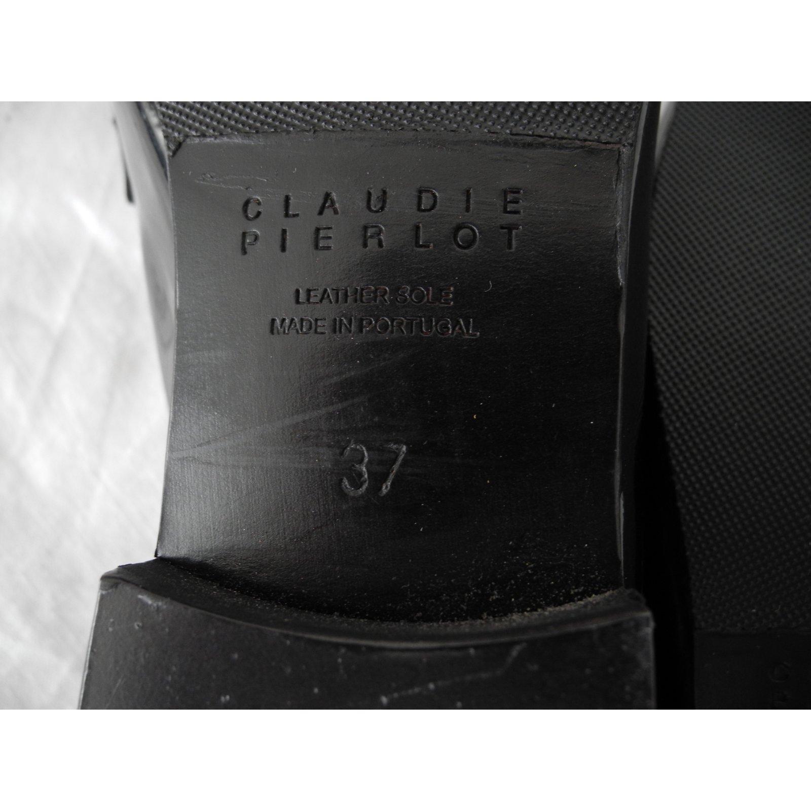 Vernis Cuir Pierlot Mocassins Claudie Noir 76Oaan