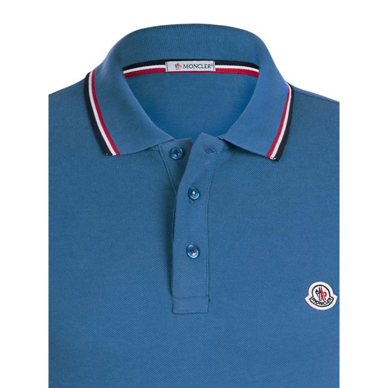 Moncler Moncler brand new polo light blue shirt eu large Polos Cotton Blue ref.36728 - Joli Closet