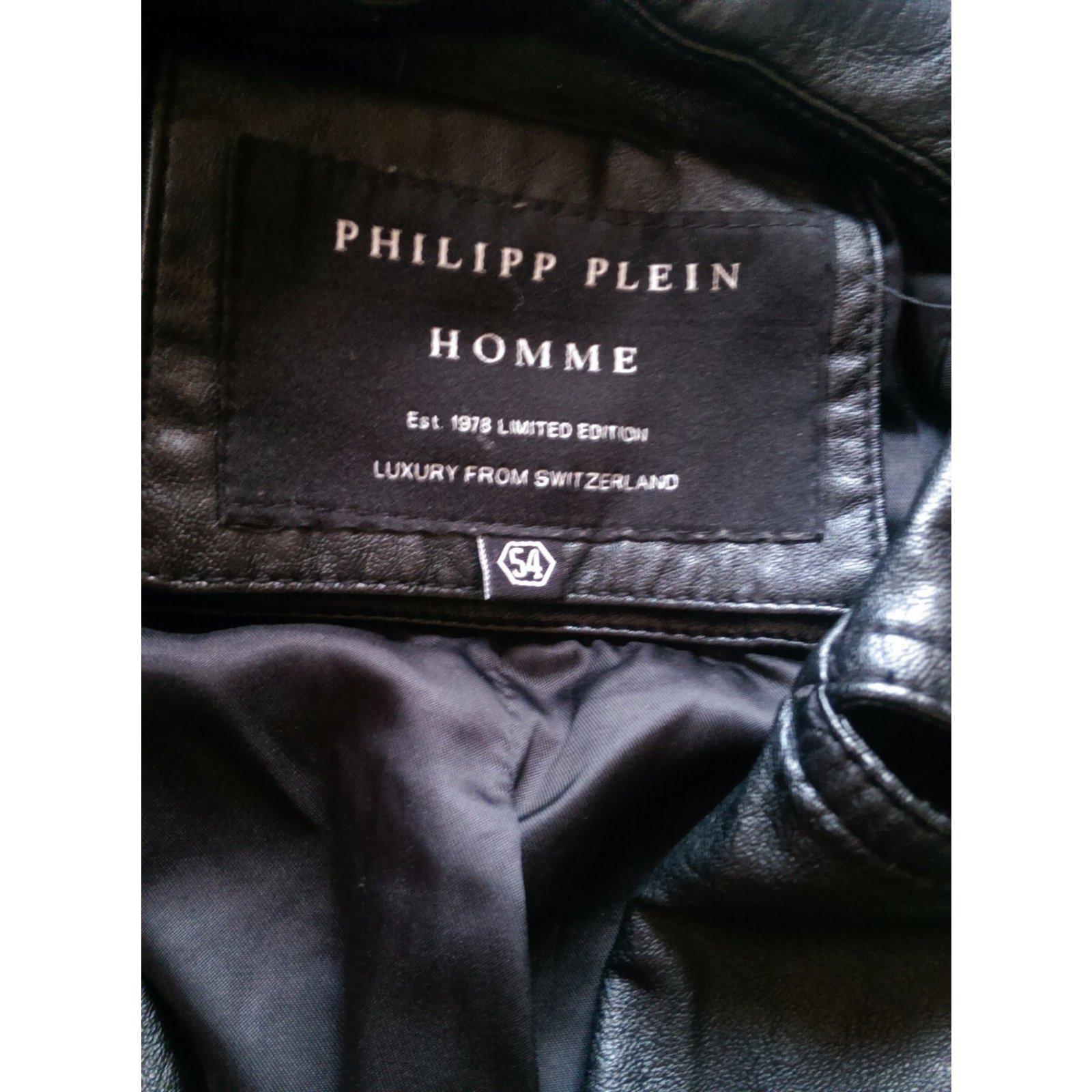 d3fad8543e Philipp Plein Blazers Jackets Blazers Jackets Leather Black ref.36901 -  Joli Closet