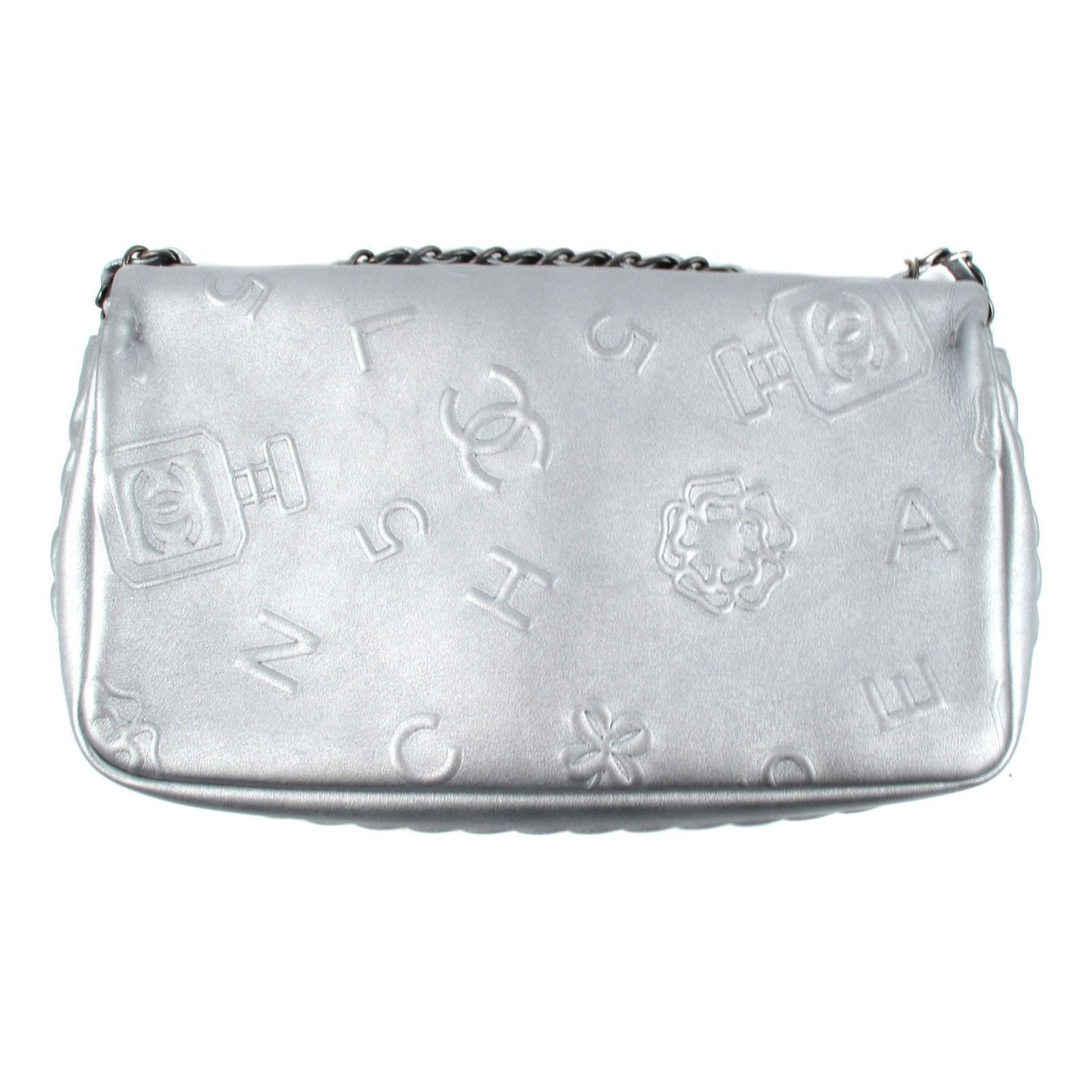0e6ad40b4d06c3 Chanel Jumbo Lucky Charms Bag Handbags Leather Silvery ref.37031 - Joli  Closet