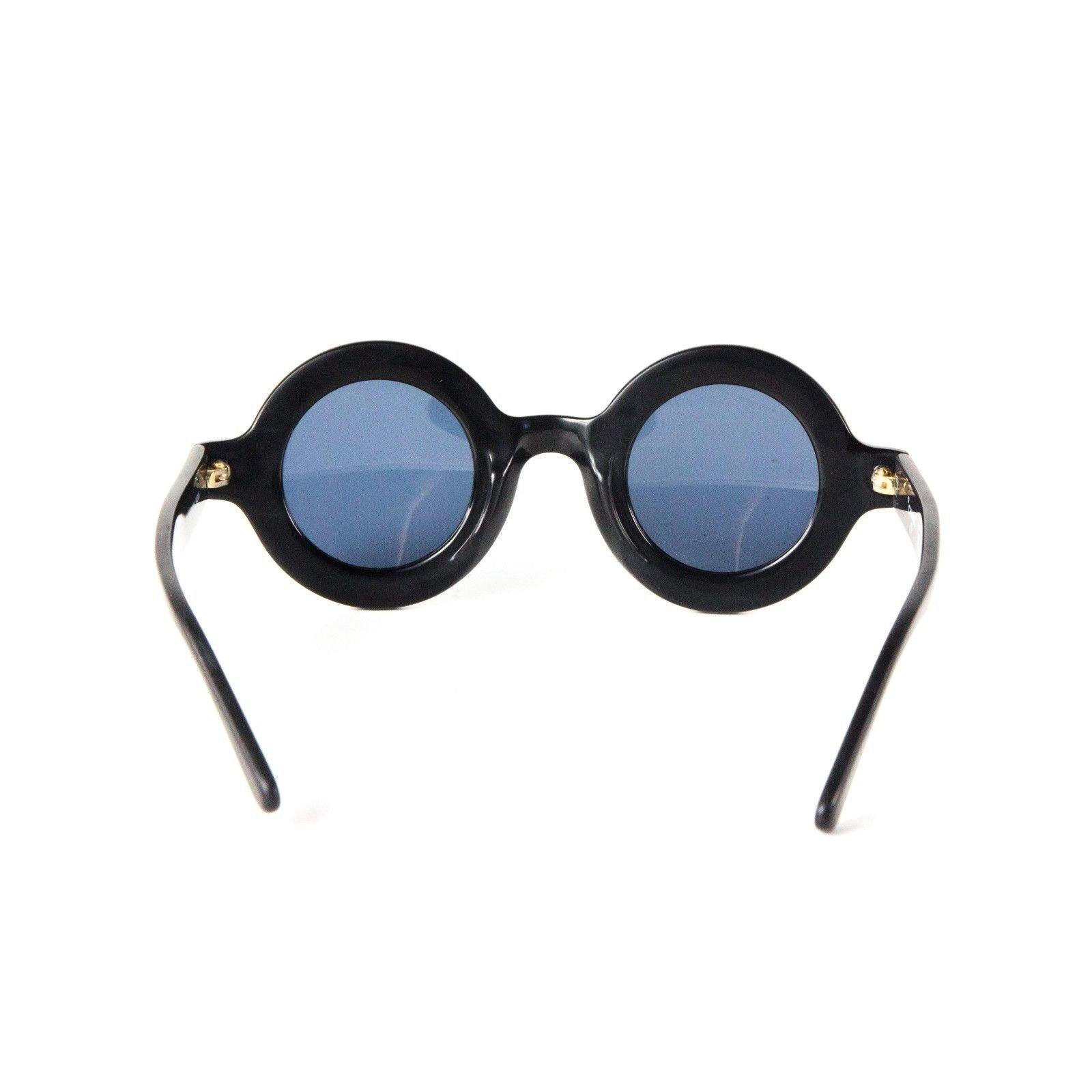 0ada4b09c43f8 Lunettes Chanel Chanel Lunettes de soleil rondes -Vintage Logo Autre Autre  ref.37099 - Joli Closet