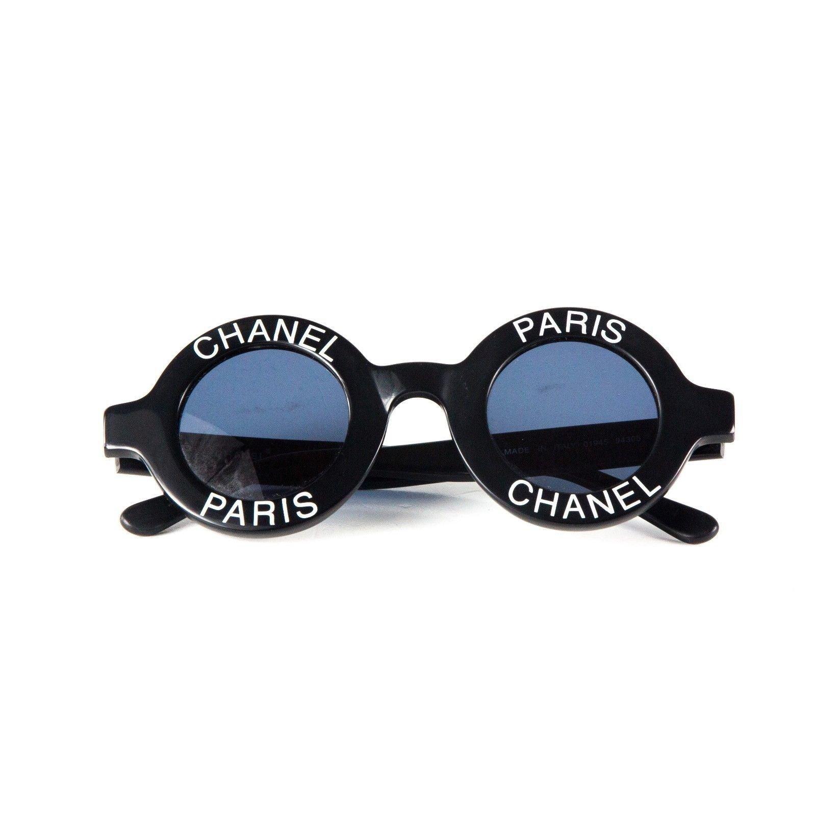5515d6411c4010 Lunettes Chanel Chanel Lunettes de soleil rondes -Vintage Logo Autre Autre  ref.37099 - Joli Closet