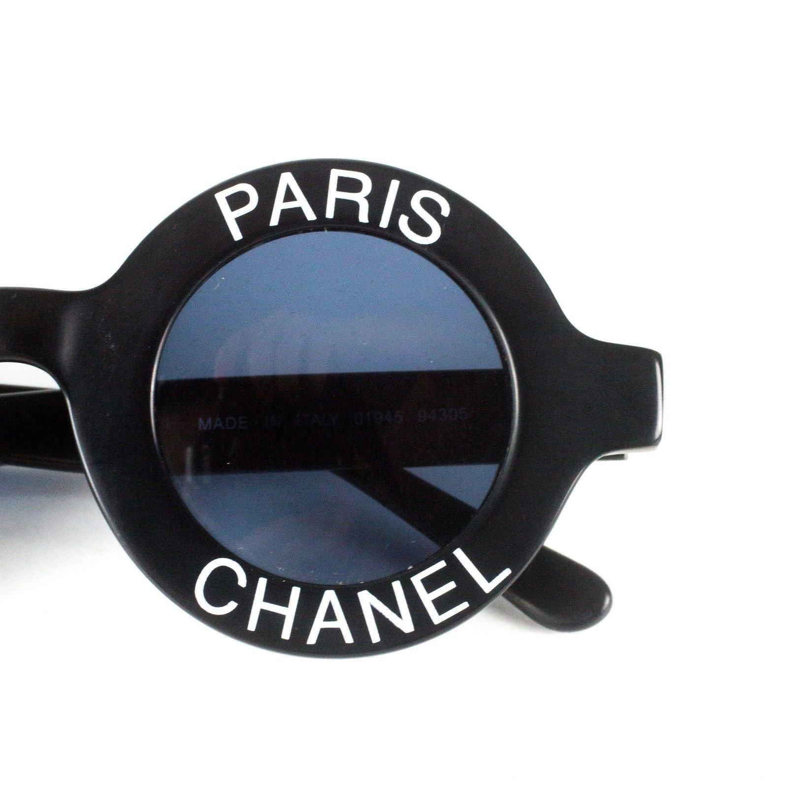 74293b42f254d Lunettes Chanel Chanel Lunettes de soleil rondes -Vintage Logo Autre Autre  ref.37099 - Joli Closet