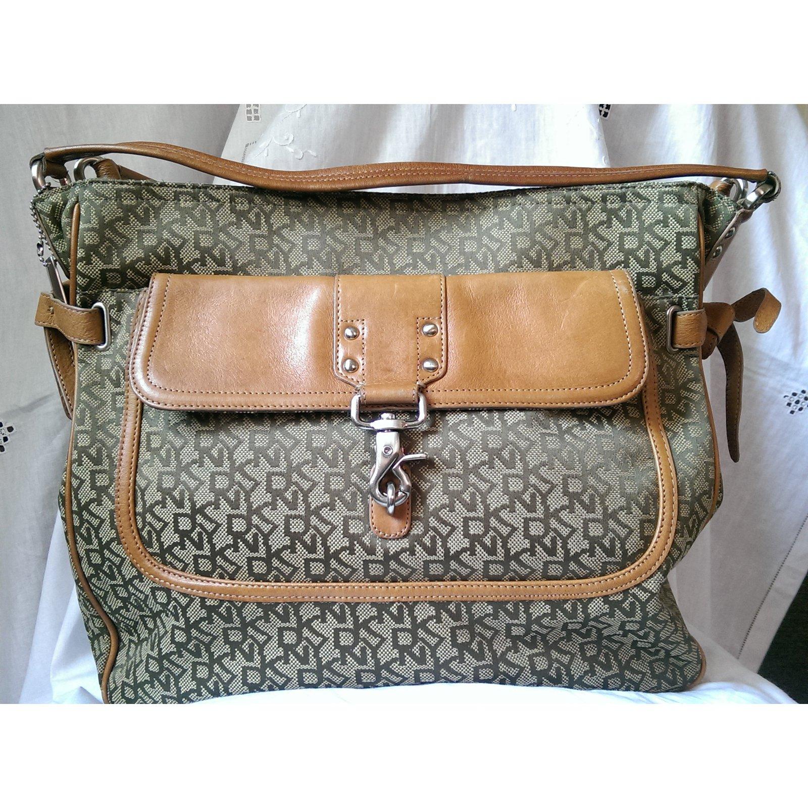 Dkny Handbag Handbags Leather Cotton
