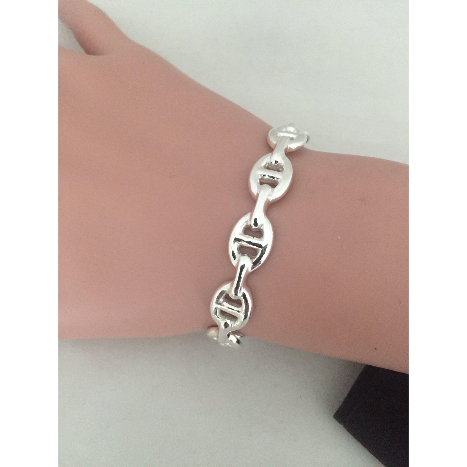 0b0419d2a51 Bracelets Hermès Chaine d ancre Argent Argenté ref.37464 - Joli Closet