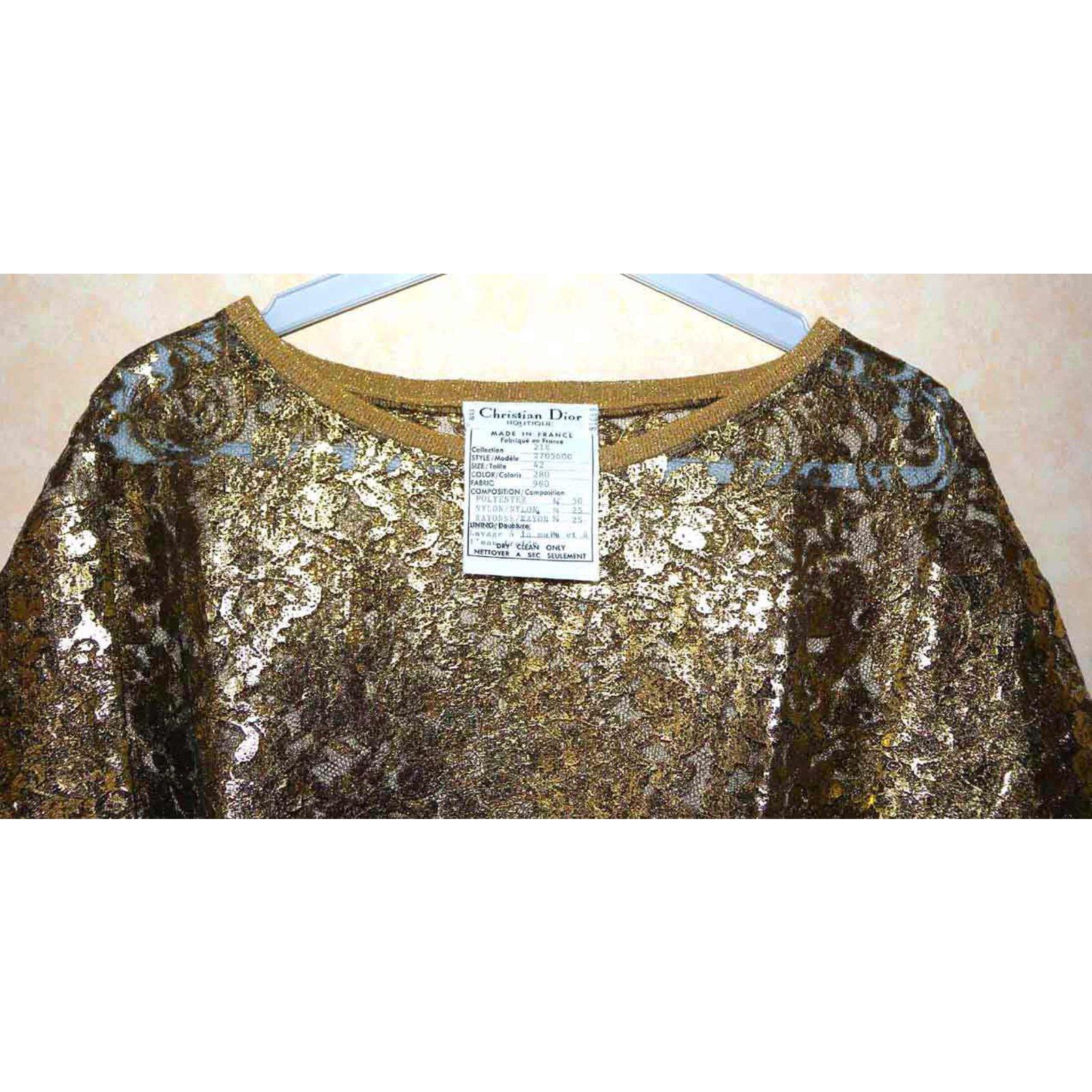 869ed668c81 Christian Dior tunic tunics Polyester,Nylon,Rayon Golden ref.37480 - Joli  Closet
