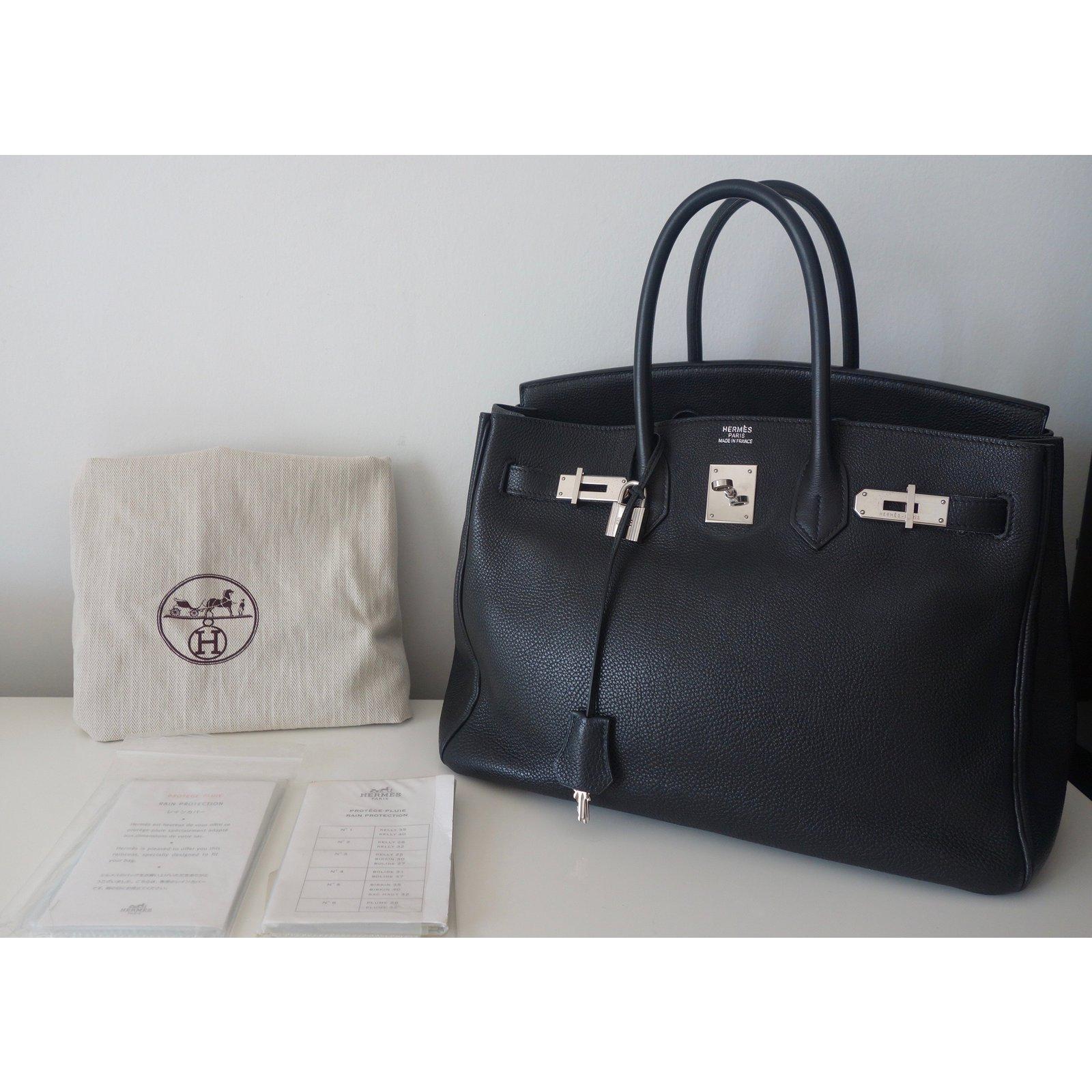 86de954c93 Hermès Birkin 35 Handbags Leather Black ref.37538 - Joli Closet
