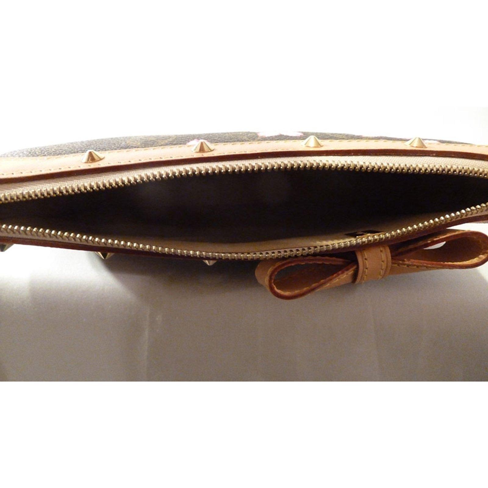 Louis Vuitton Takashi Murakami Cherry Blossom Monogram Stud Pochette  Shoulder Bag Handbags Other Brown ref.37552 - Joli Closet c747925d60e21