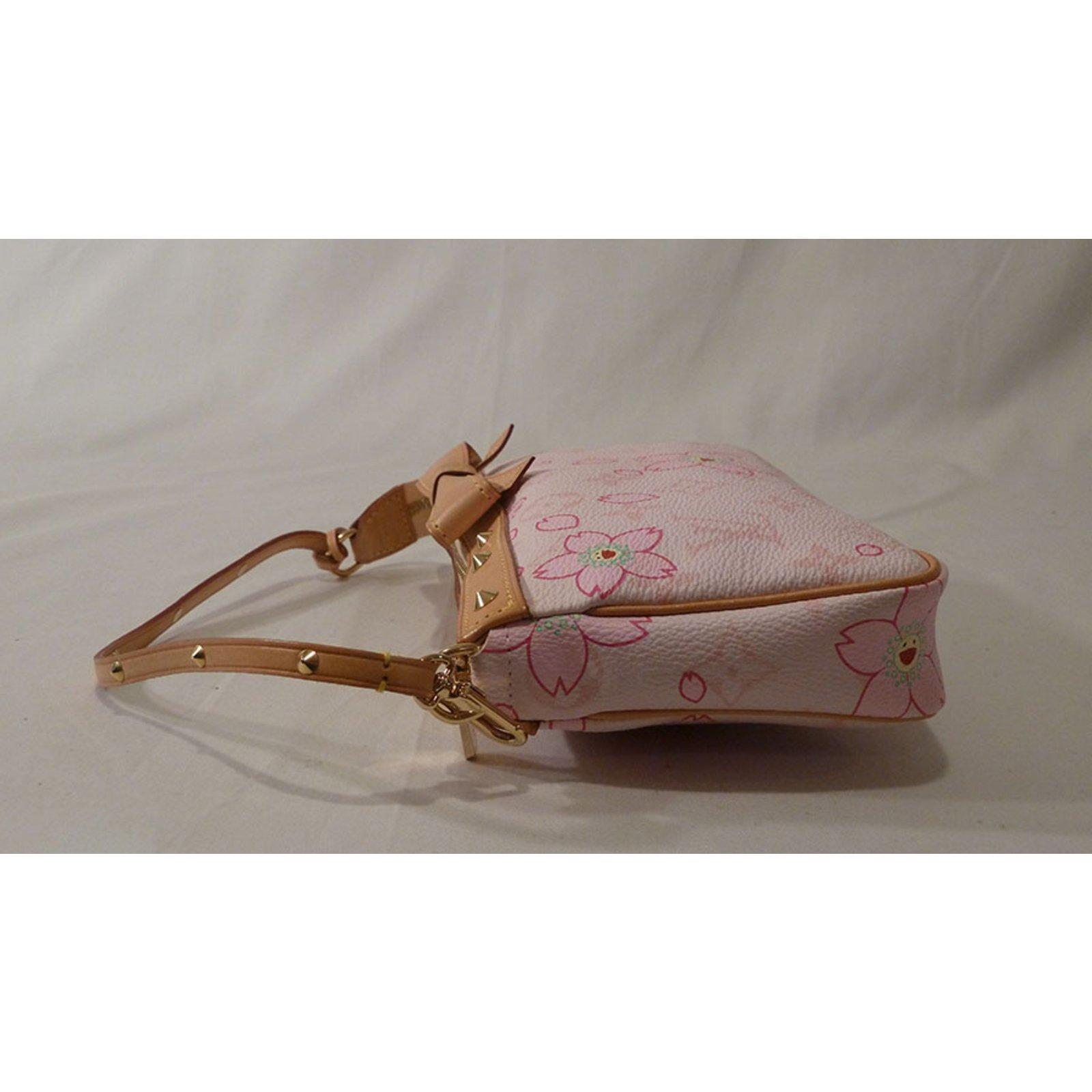 0d8ee1baa0 Louis Vuitton Takashi Murakami Cherry Blossom Monogram Stud Shoulder Bag  Handbags Other Pink ref.37553 - Joli Closet