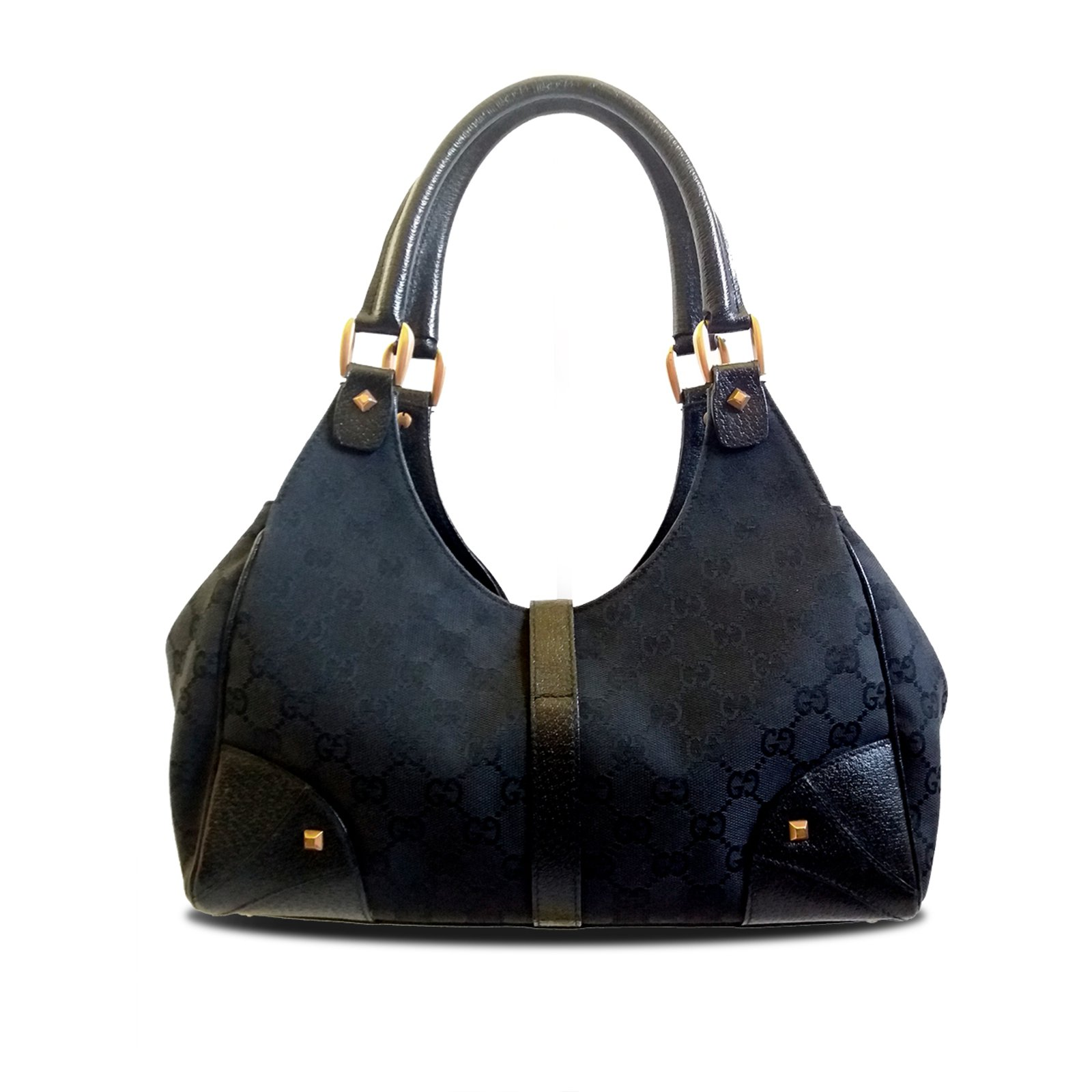 6bb2ecd19f2e Gucci Gucci Bardot Hobo Handbags Leather,Cloth Black ref.38012 ...