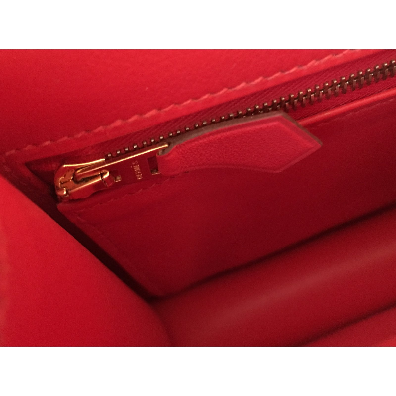 Hermès Hermes Constance 24cm Suede Leather Bag with Rose Gold hardware  Handbags Suede Red 8d52d3107e75c