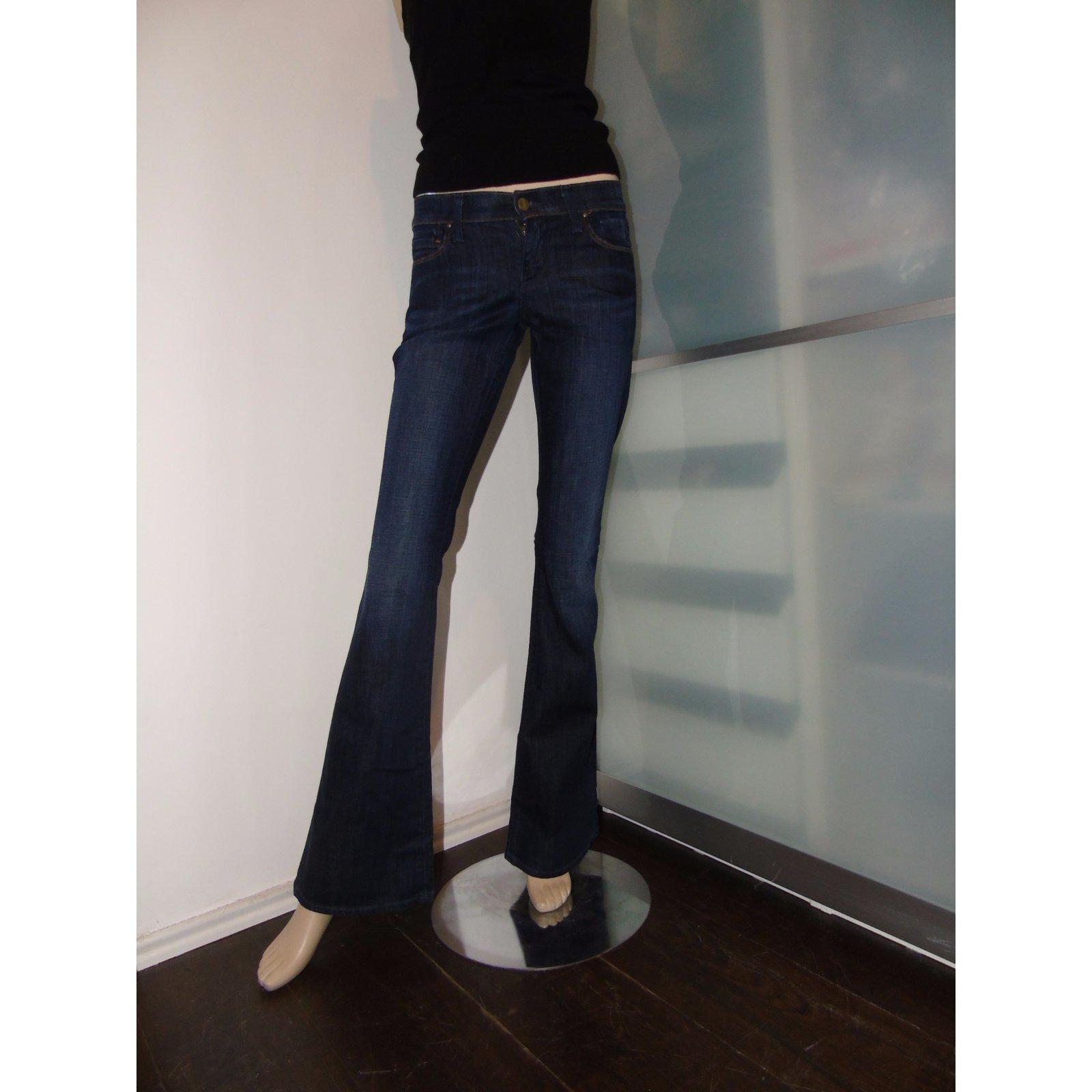 jeans citizens of humanity ingrid coton elasthane bleu joli closet. Black Bedroom Furniture Sets. Home Design Ideas