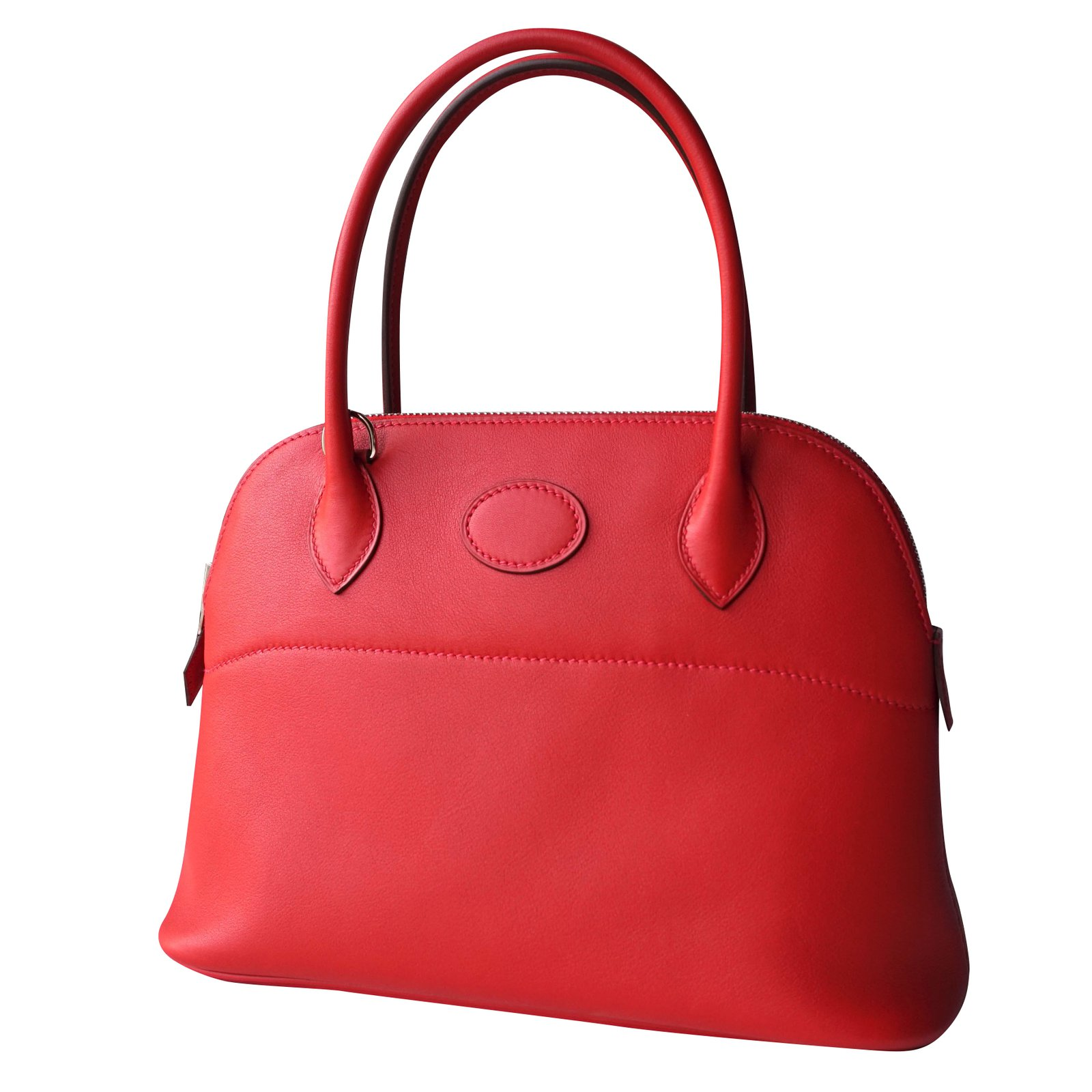 bcdbbbca7a Hermès Bolide 27 Handbags Leather Red ref.38705 - Joli Closet