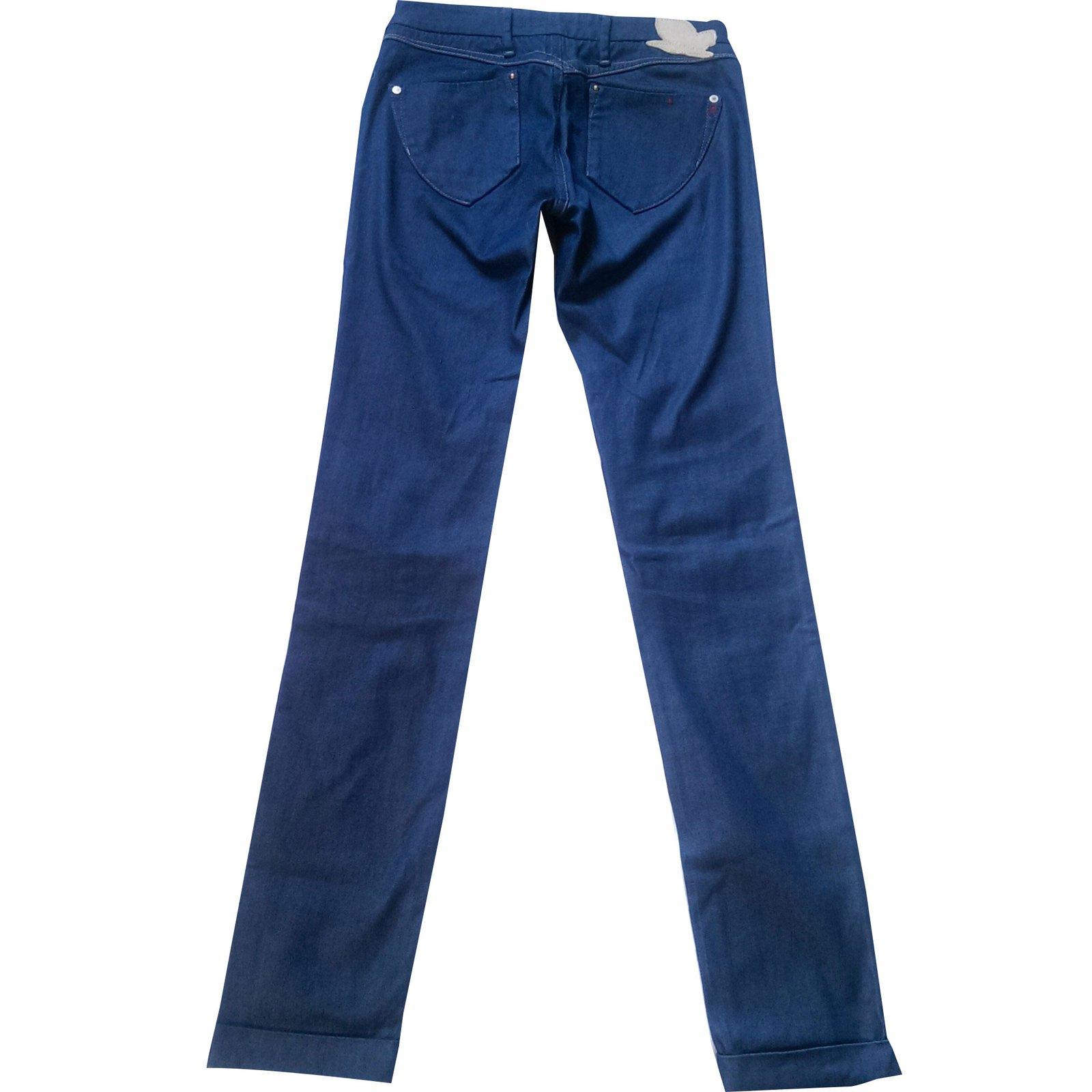jeans autre marque rita replay coton elasthane bleu joli closet. Black Bedroom Furniture Sets. Home Design Ideas