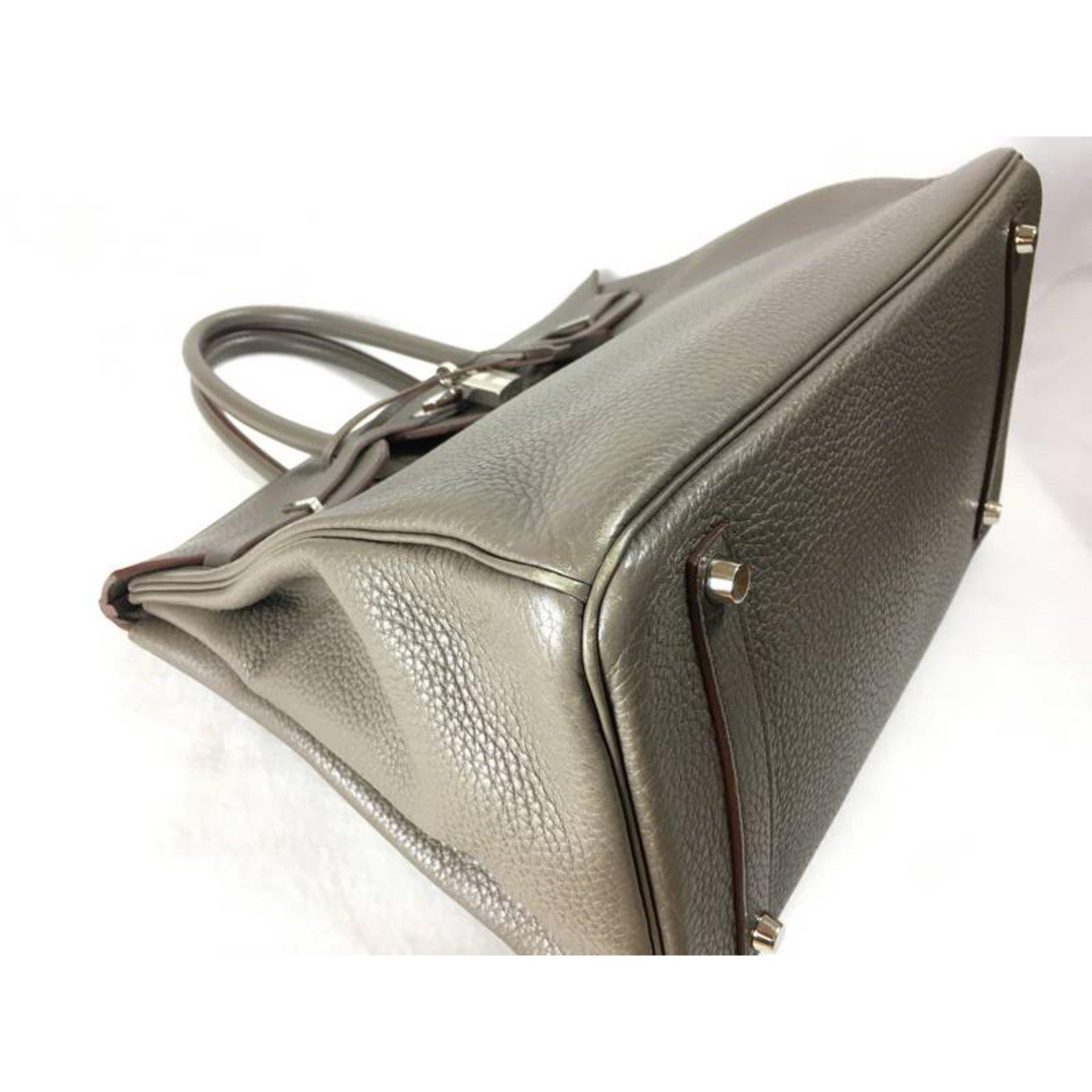 d57e12eec61c new style hermes etain evelyne iii 33 messenger bag 146b4 4d347  coupon  code for sacs à main hermès hermes birkin 35 clemence etain shw cuir gris  ref