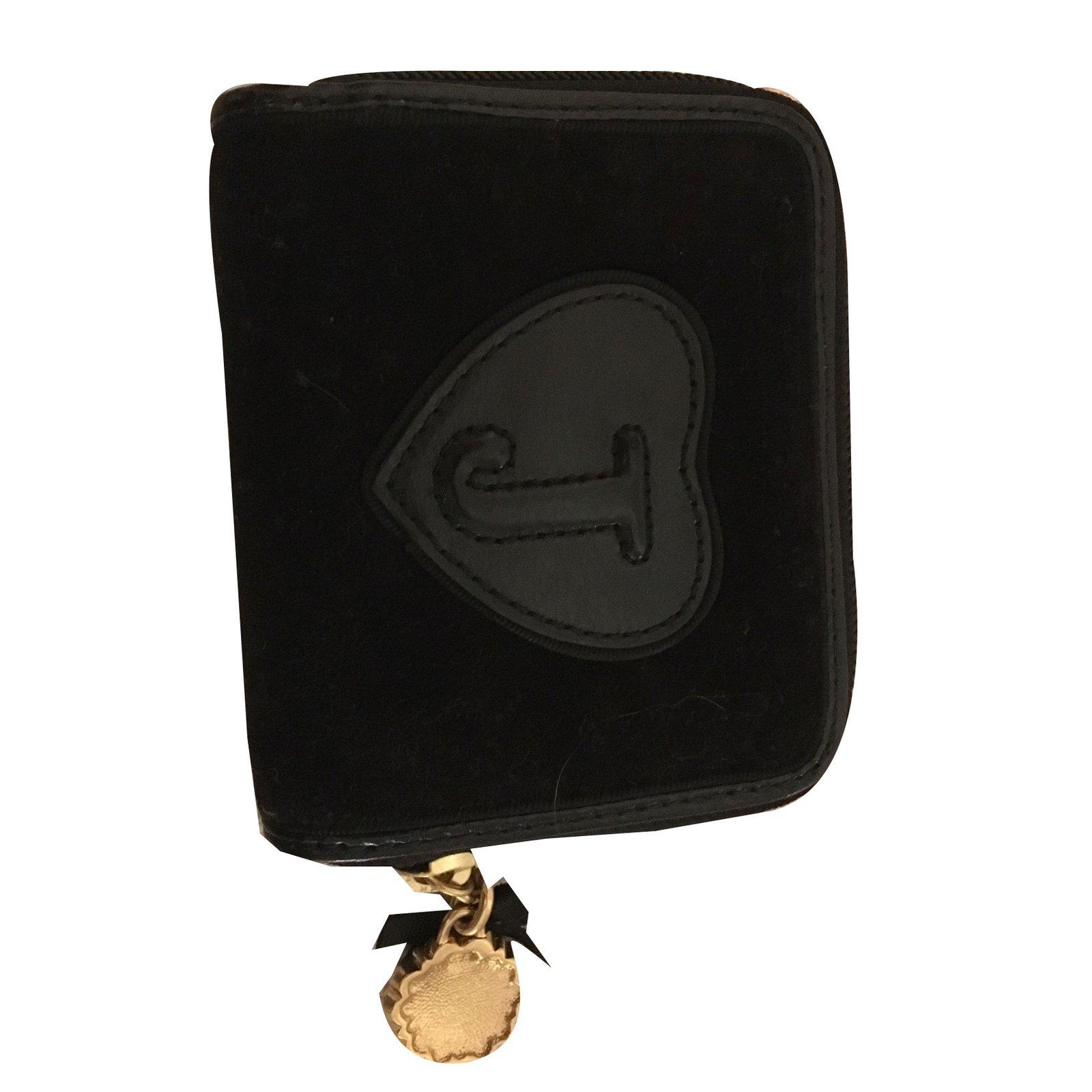 Portefeuilles Juicy Couture Portefeuille Velours Noir ref.38978 - Joli  Closet 404c53e2152be