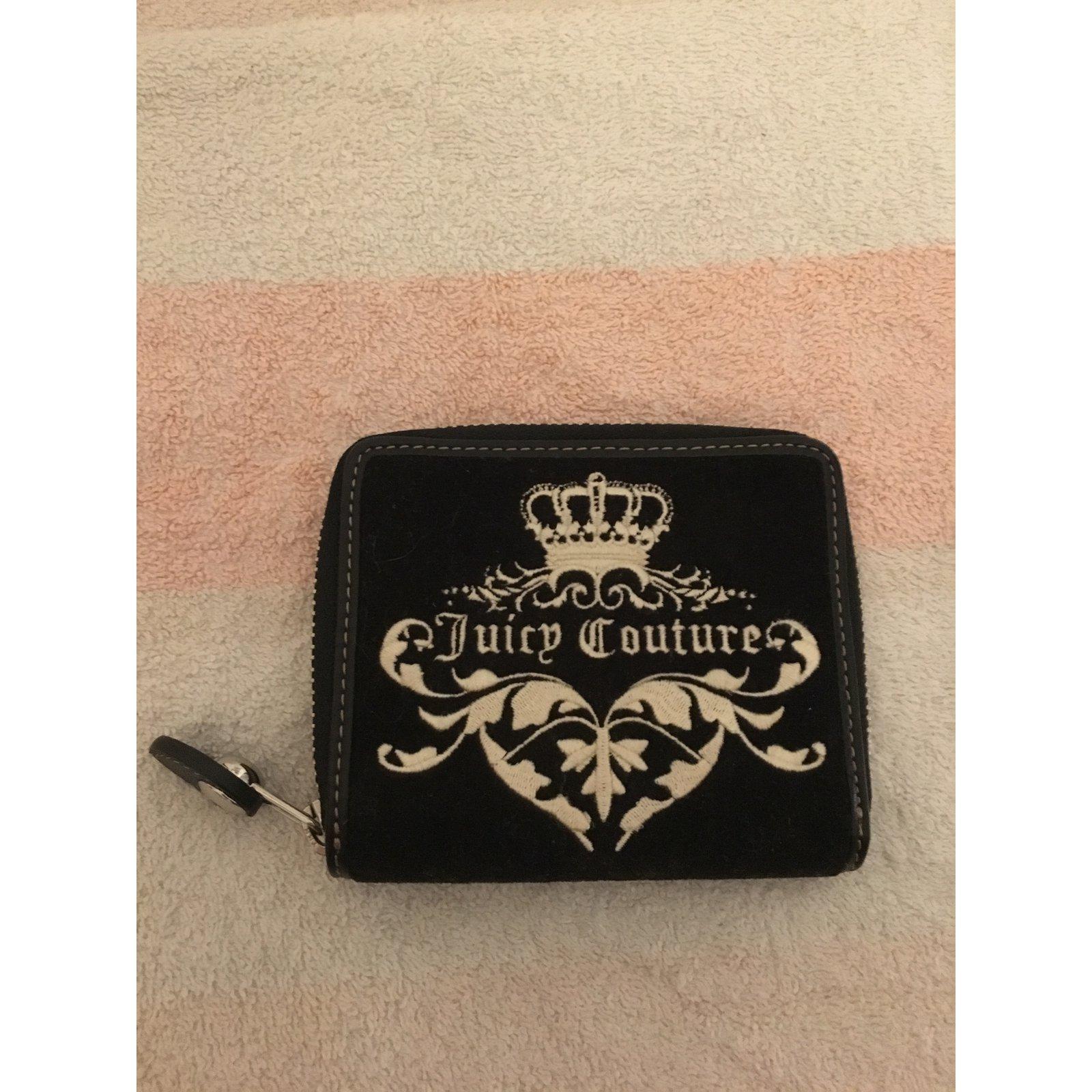Juicy Couture Wallet Wallets Velvet Black ref.38979 - Joli Closet a0cfadef55282