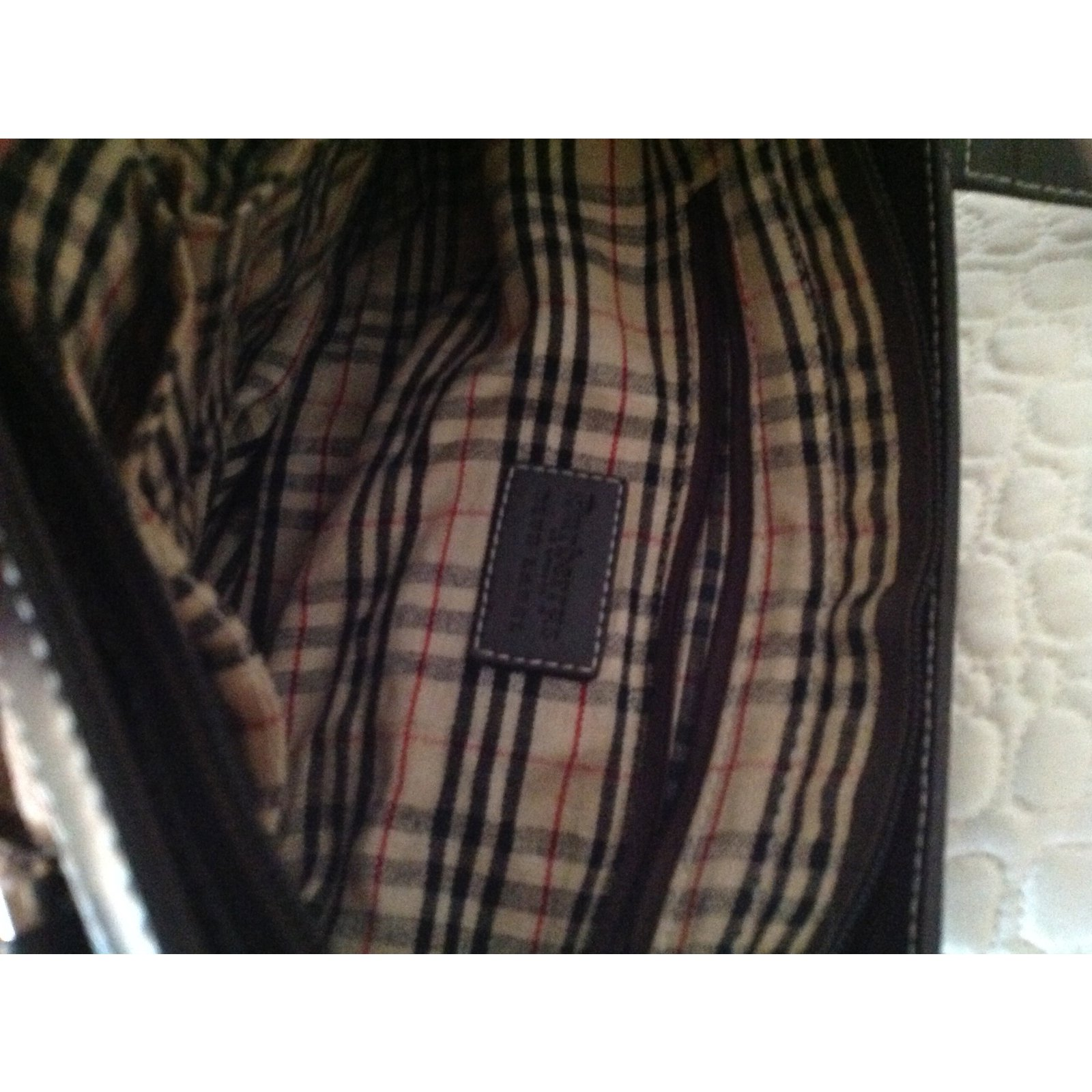 b21521409f651 Sacs à main Burberry Burberrys of london Blue Label Toile Beige ref.39007 -  Joli Closet