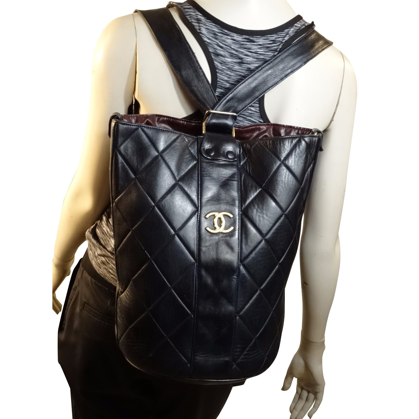 e06fc91aa702 Facebook · Pin This. Chanel Backpack Backpacks Leather Black ref.39512