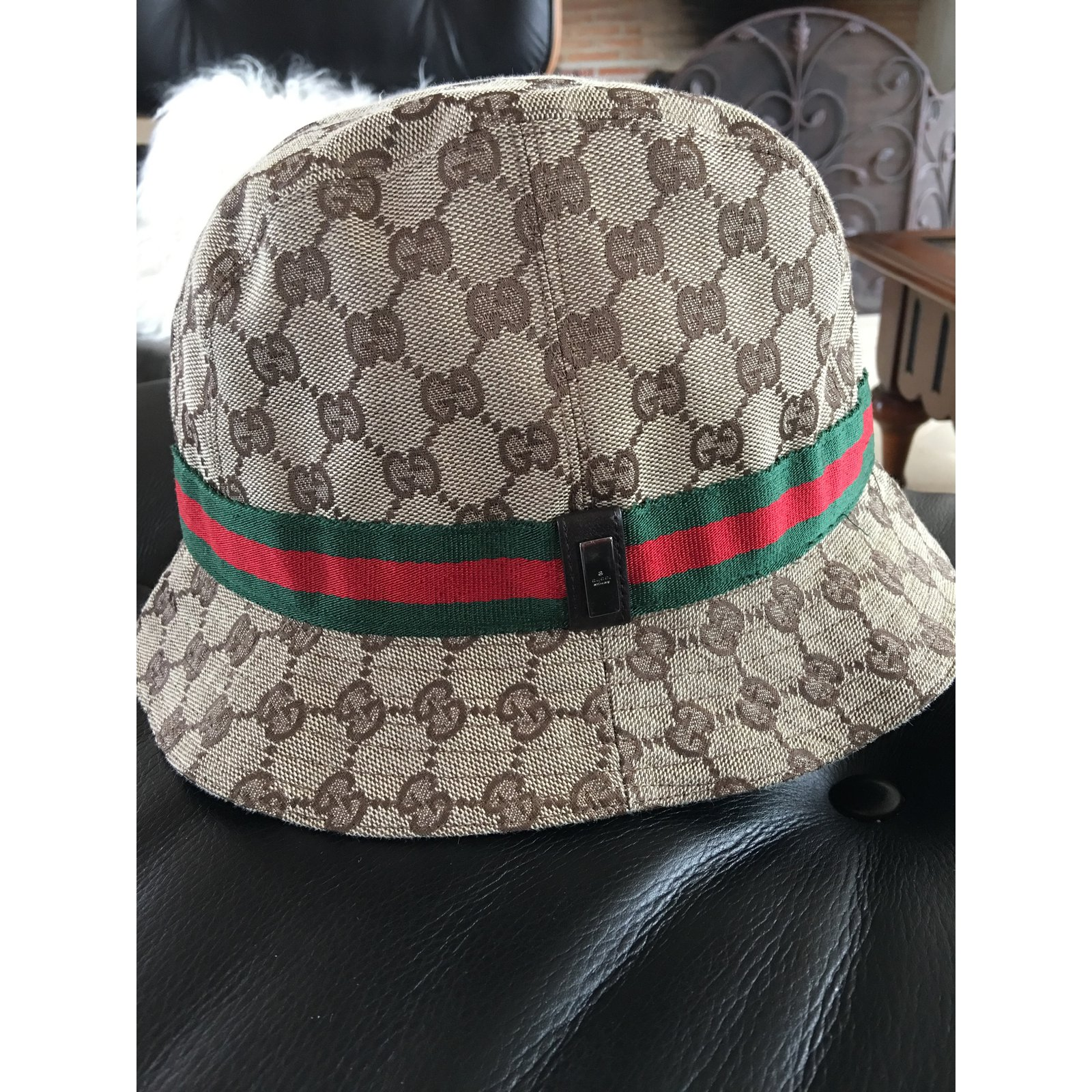 Gucci Hats For Men: Gucci Hat Beanie Hats Beanies Cotton Brown Ref.39584