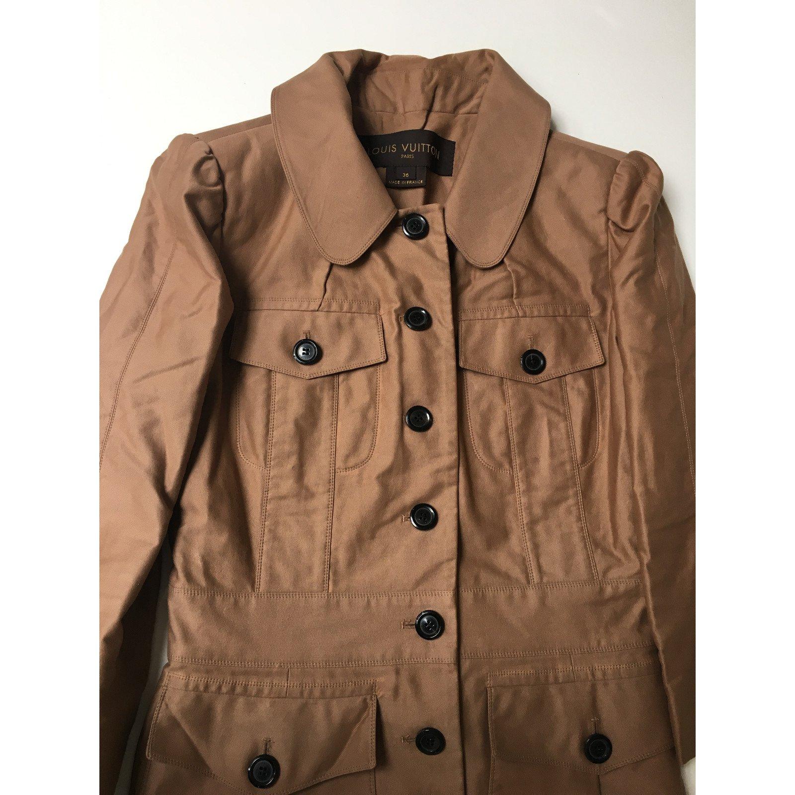 louis vuitton jacket jackets cotton caramel. Black Bedroom Furniture Sets. Home Design Ideas