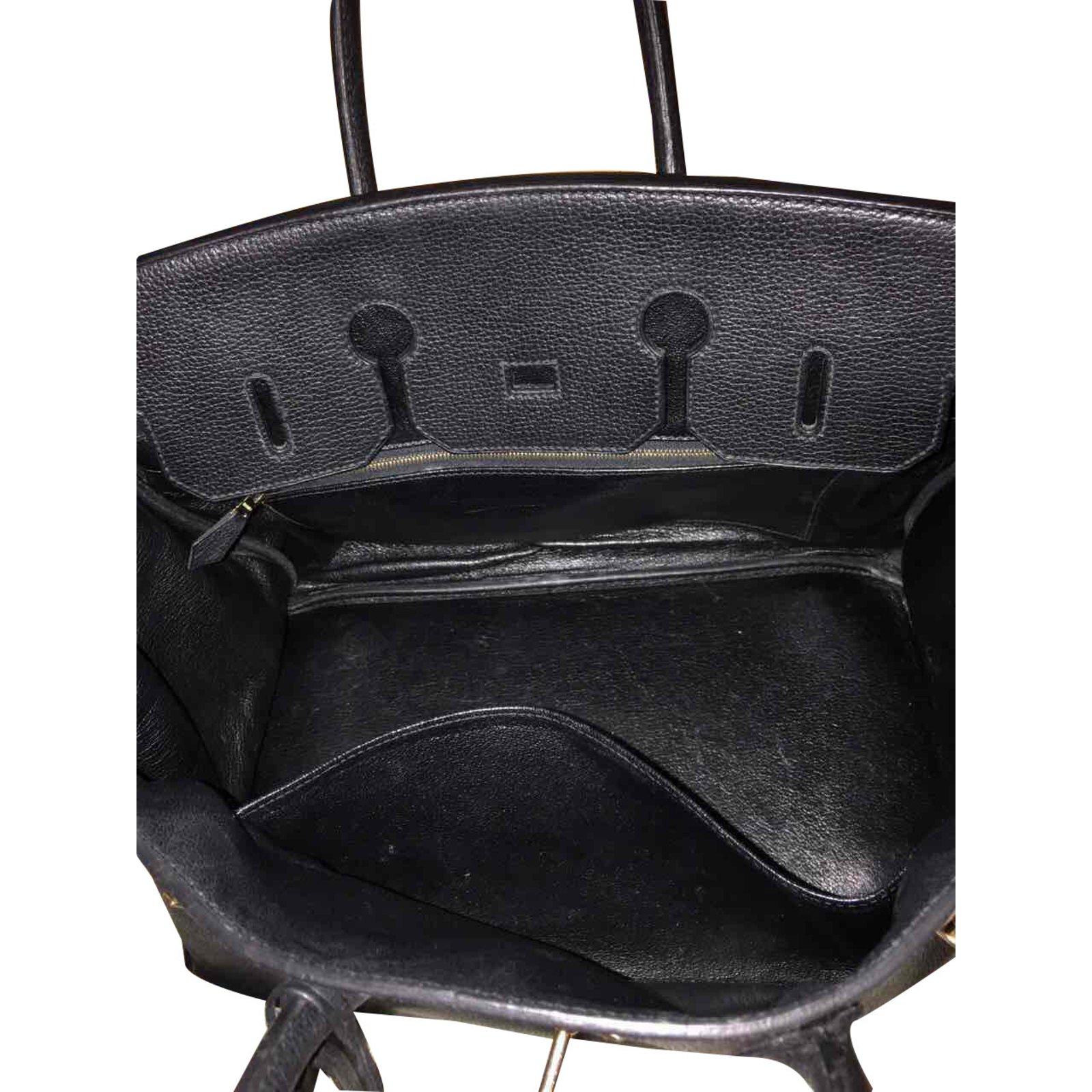 a93aef9a99cc Sacs à main Hermès Birkin 35 Cuir Noir ref.39742 - Joli Closet