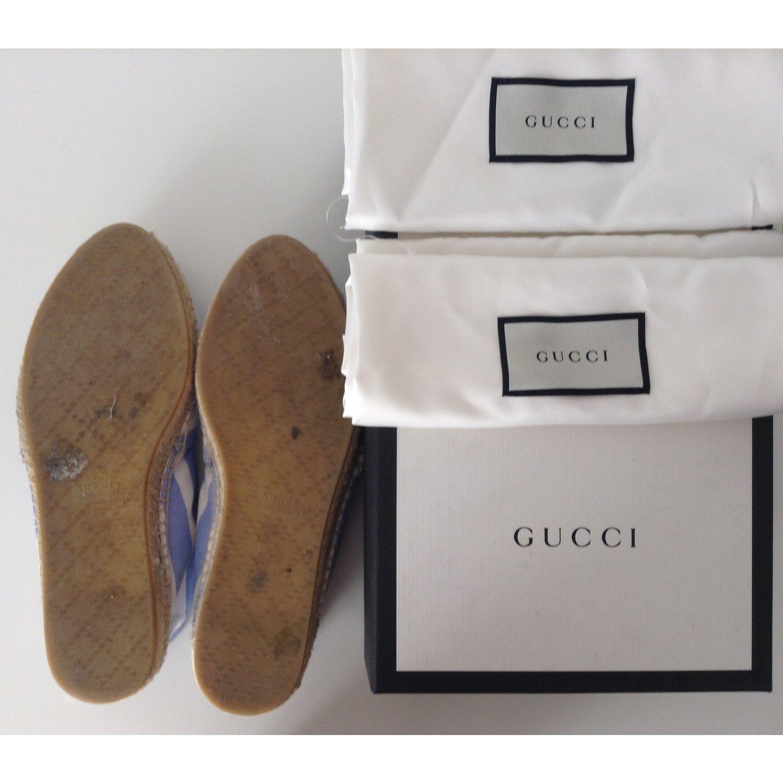 a4ca5282ddf Gucci Espadrilles Espadrilles Cloth Blue ref.40086 - Joli Closet