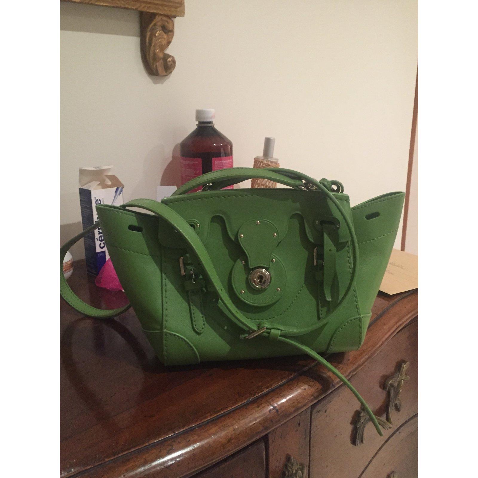 Ralph Lauren Handbag Handbags Leather Green ref.40324 - Joli Closet 8676b7de6ba59