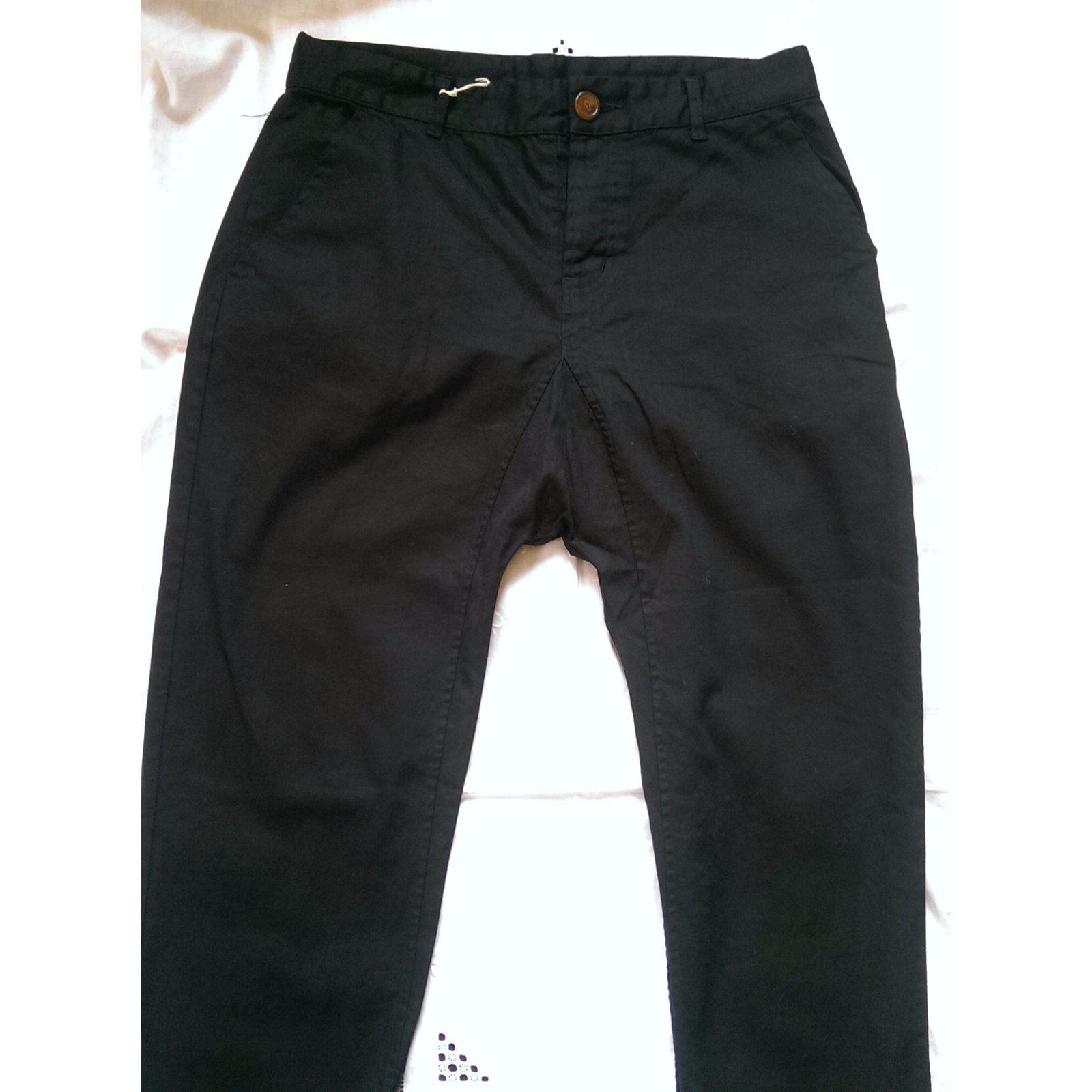 jeans homme vivienne westwood jean sarouel crop coton elasthane noir joli closet. Black Bedroom Furniture Sets. Home Design Ideas
