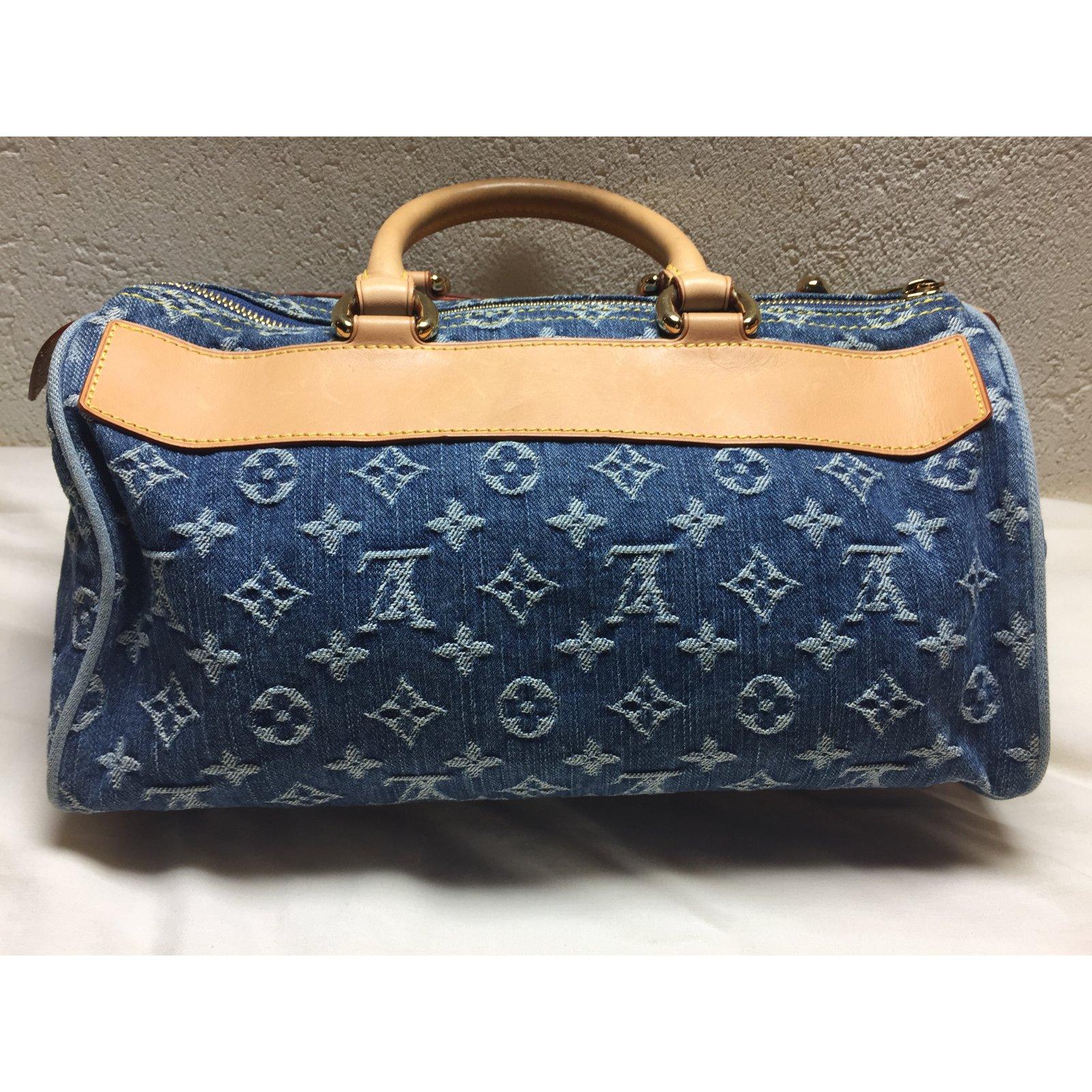 Sacs à main Louis Vuitton Speedy neo denim Jean Bleu ref.40951 - Joli Closet 22655f8d96f