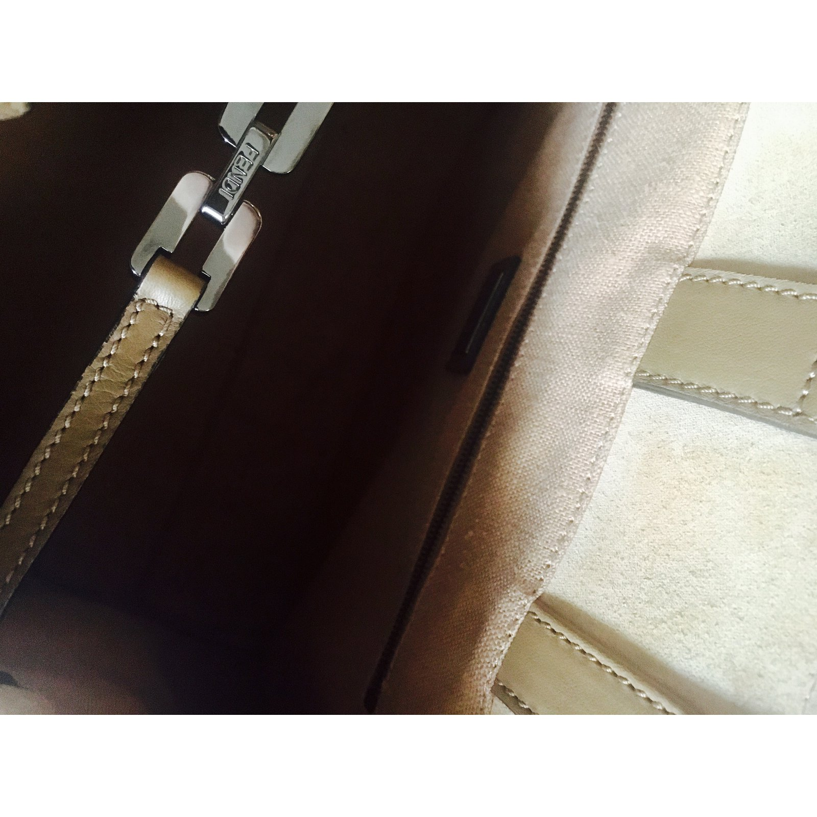 Fendi 2 jours in stingray Handbags Exotic leather Python print 2f6e827ec6fc9