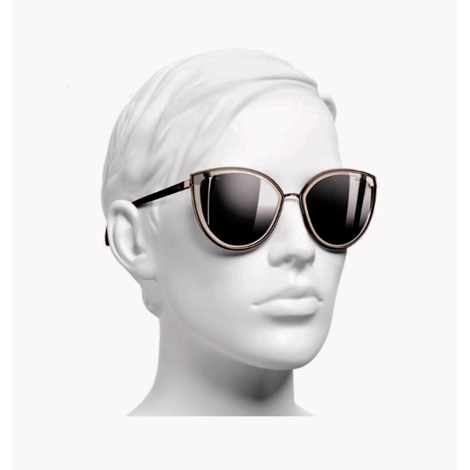 51a5d57b0d6d Chanel Summer cat eye sunglasses Sunglasses Metal Silvery ref.41125 - Joli  Closet