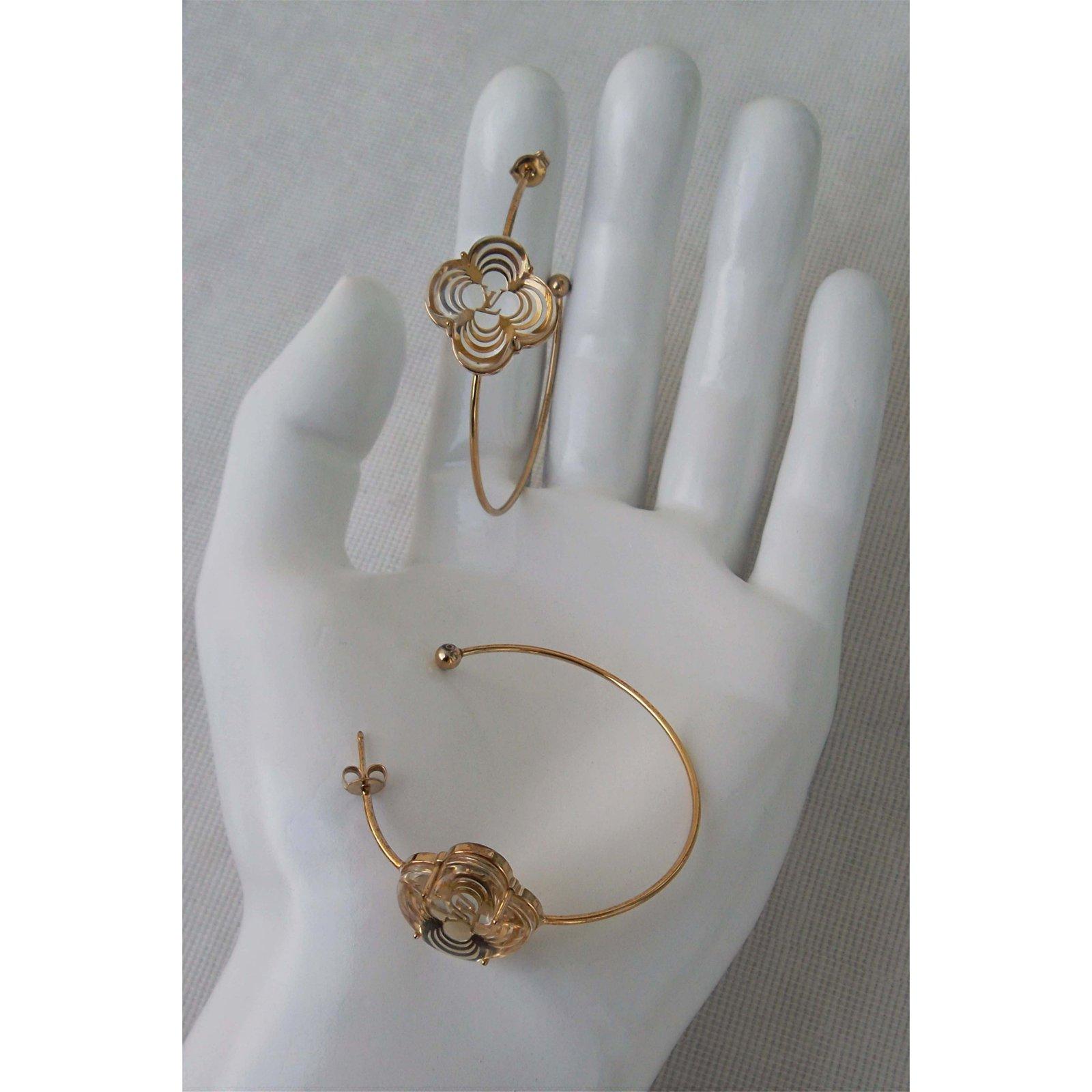 88c11e151 Louis Vuitton Earrings Earrings Gold-plated Golden ref.41387 - Joli Closet