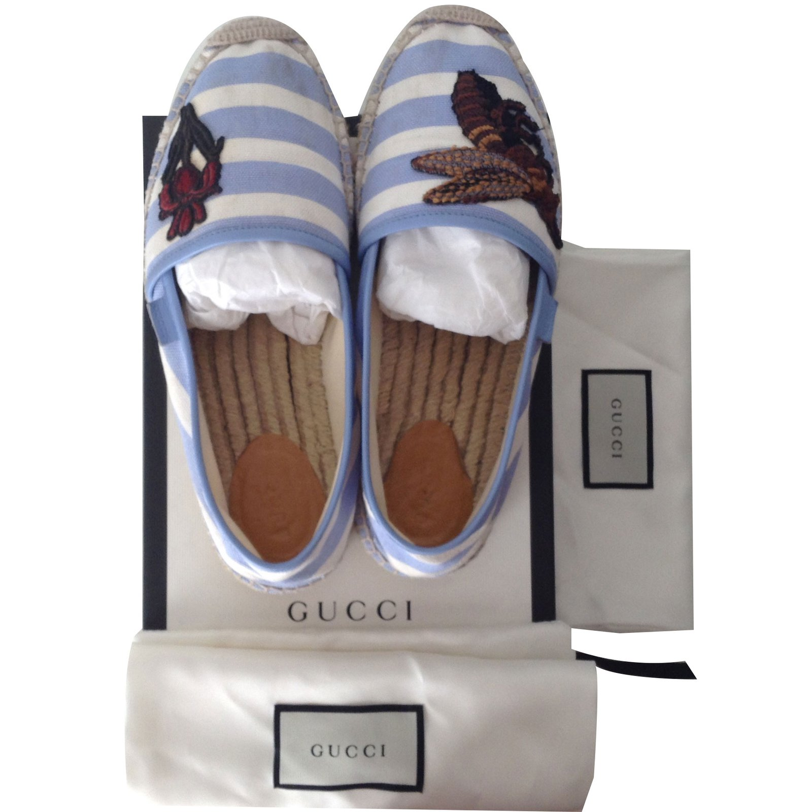 76e830abdfd Gucci Espadrilles Espadrilles Cloth Blue ref.41669 - Joli Closet