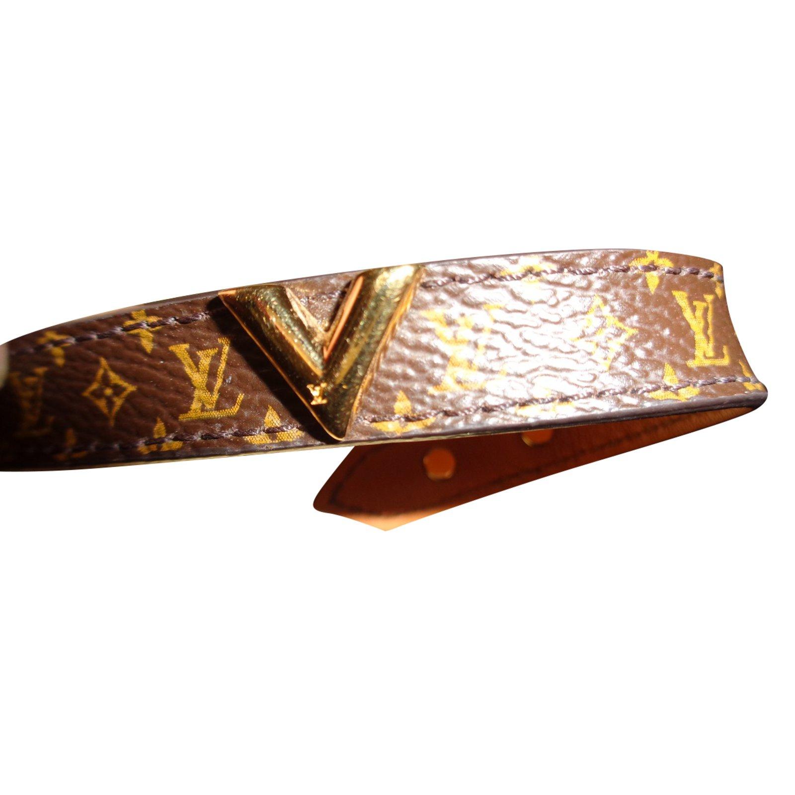 Bracelets Louis Vuitton Bracelet Toile Marron Ref 41726