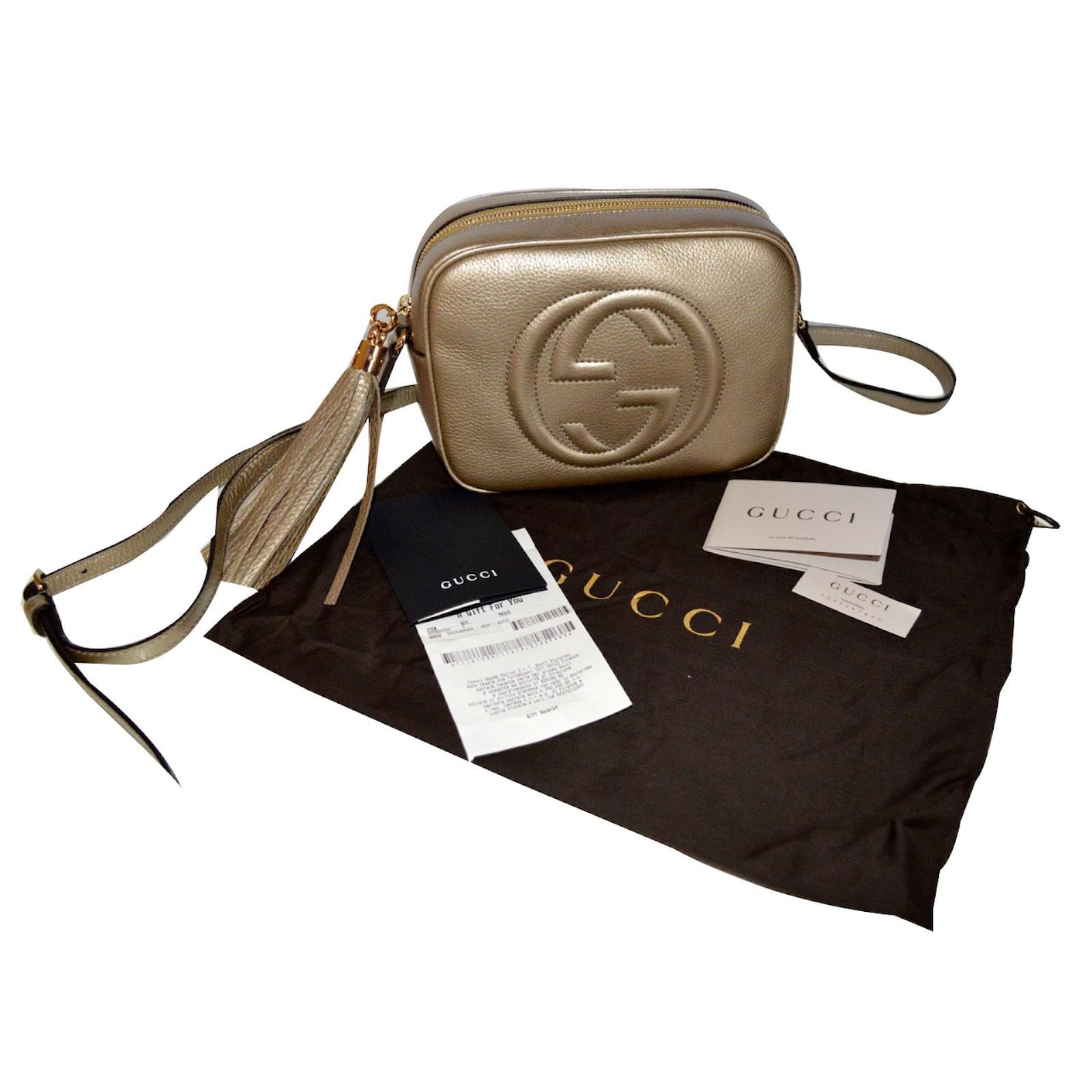 Gucci Gucci soho discobag new with giftreceipt gold Handbags Leather Golden  ref.42081 - Joli Closet 7c9845e0236ec
